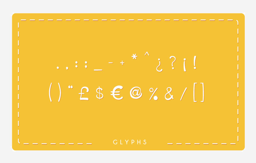 HoneyLlama Font Glyphs