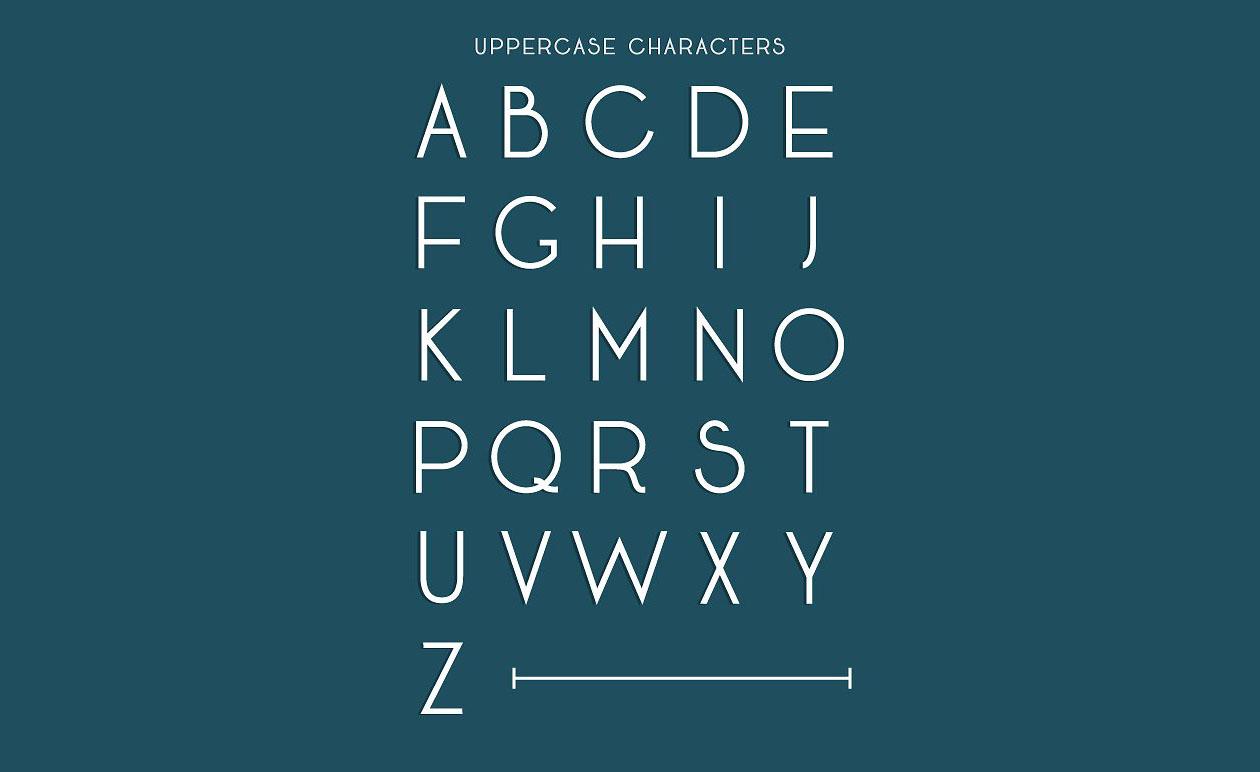 seafarer art deco font