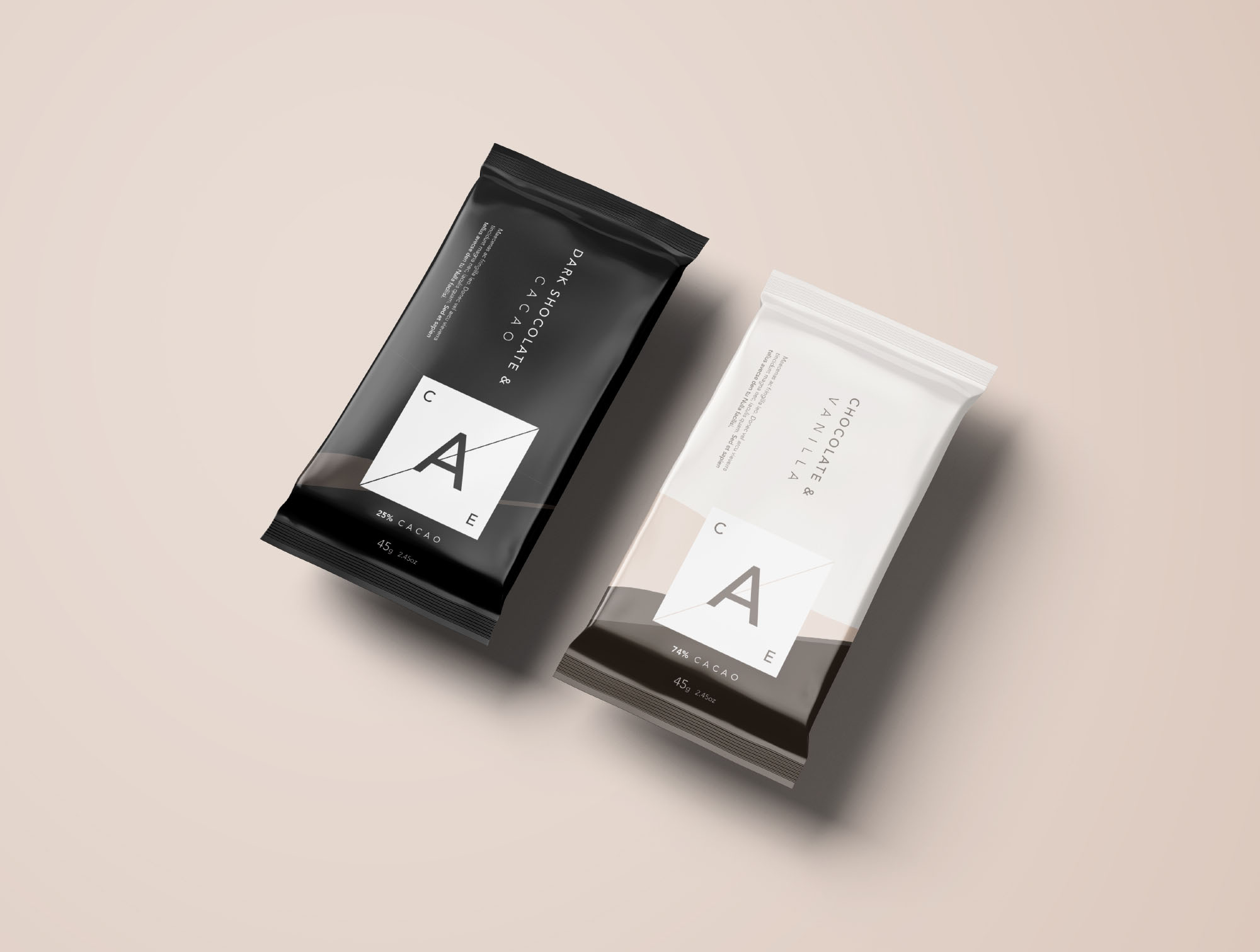 2 Chocolate Bar Mockup