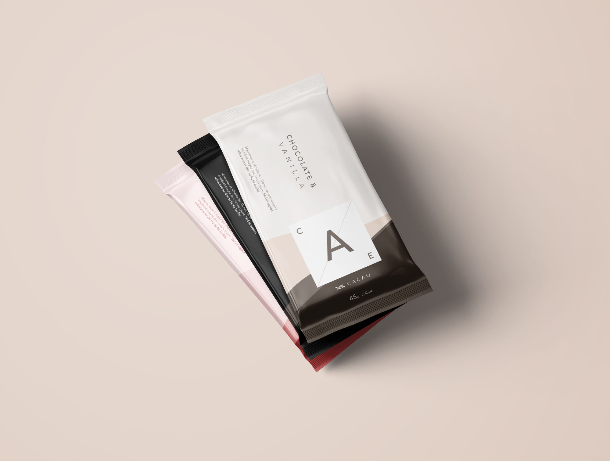 3 Chocolate Bar Mockup