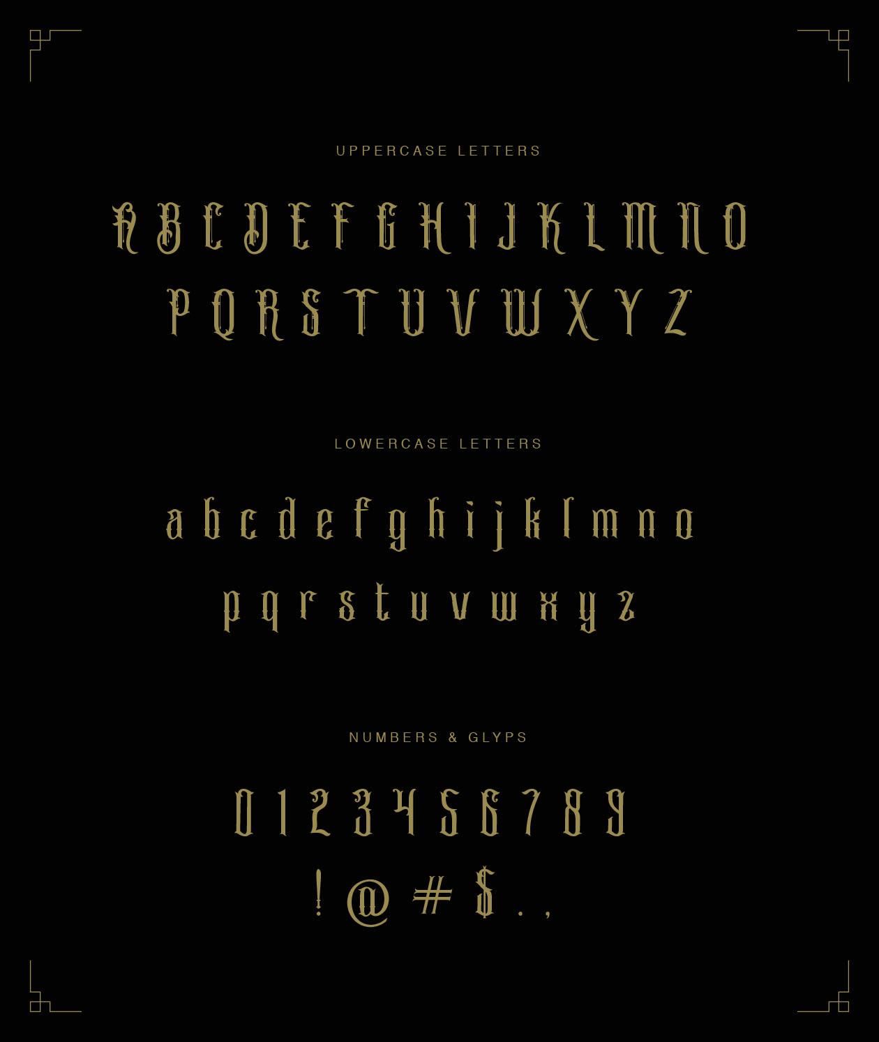 Blackbird Font Letters