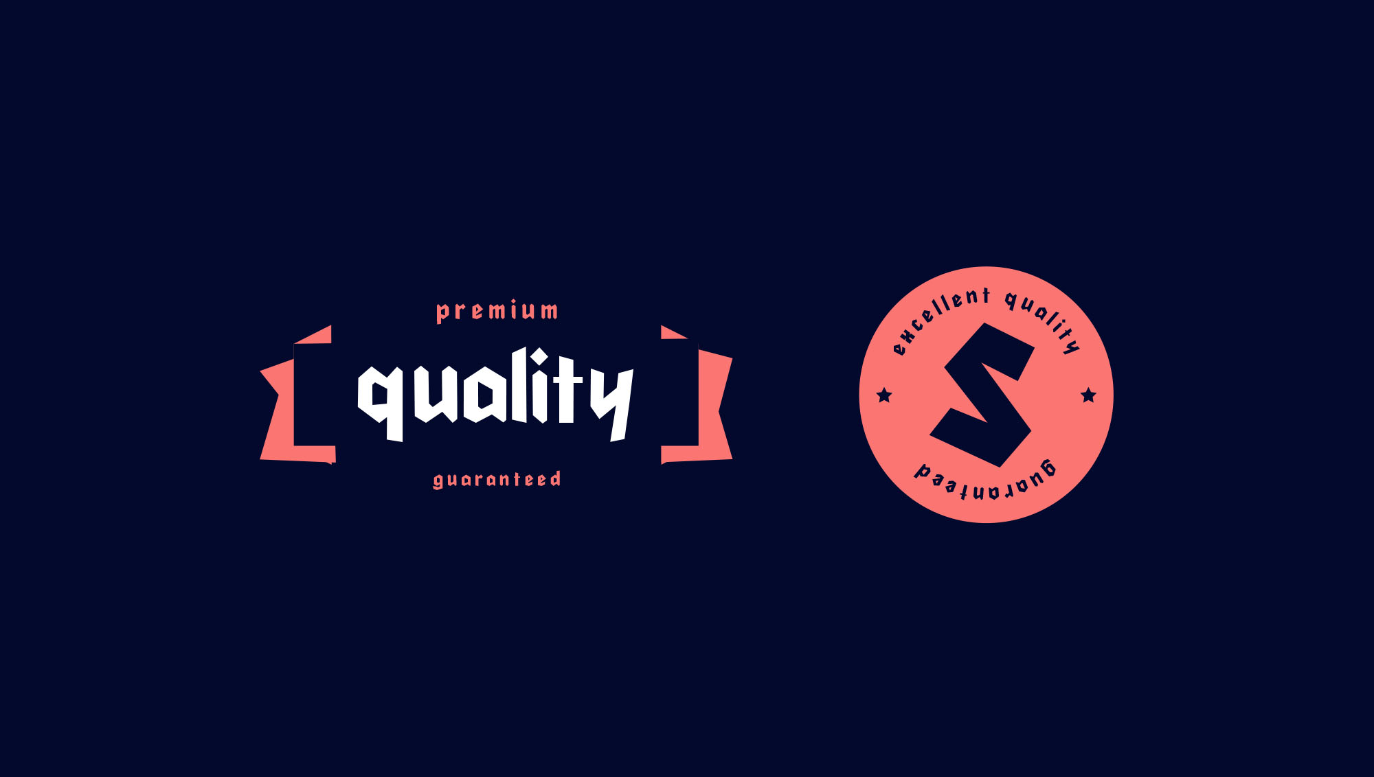 Cleankut typeface badges