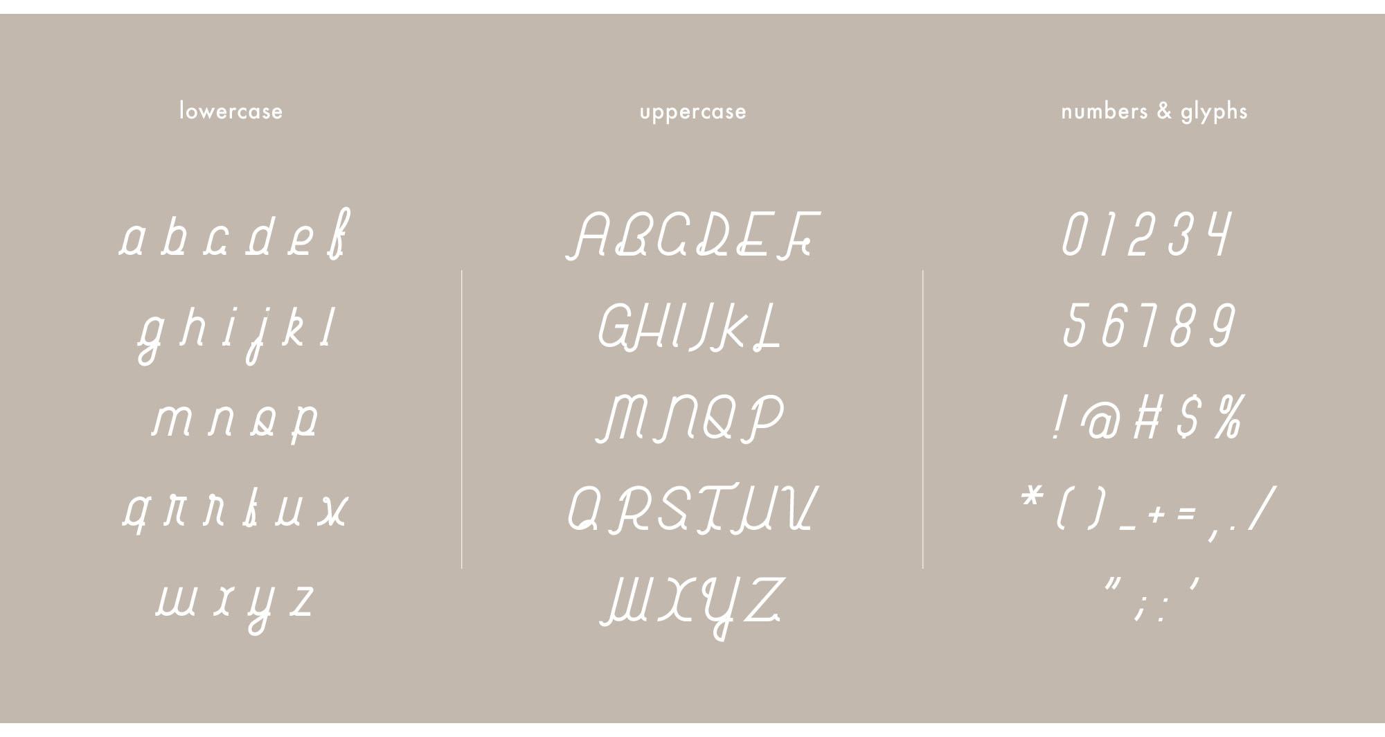 Habitual Typeface Letters