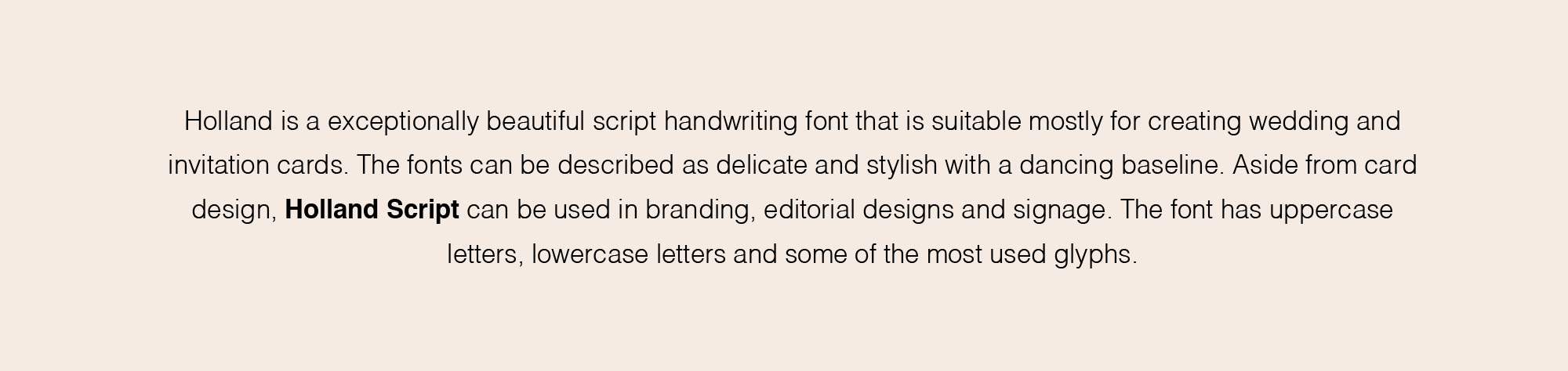 Holland Script Handwriting Font