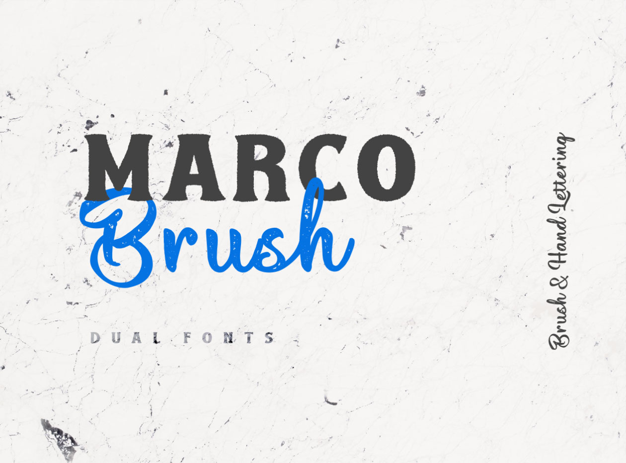 Marco Brush Dual Fonts
