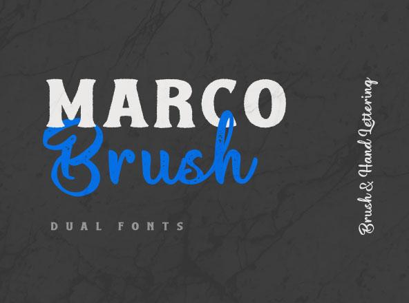 Macro Brush Font