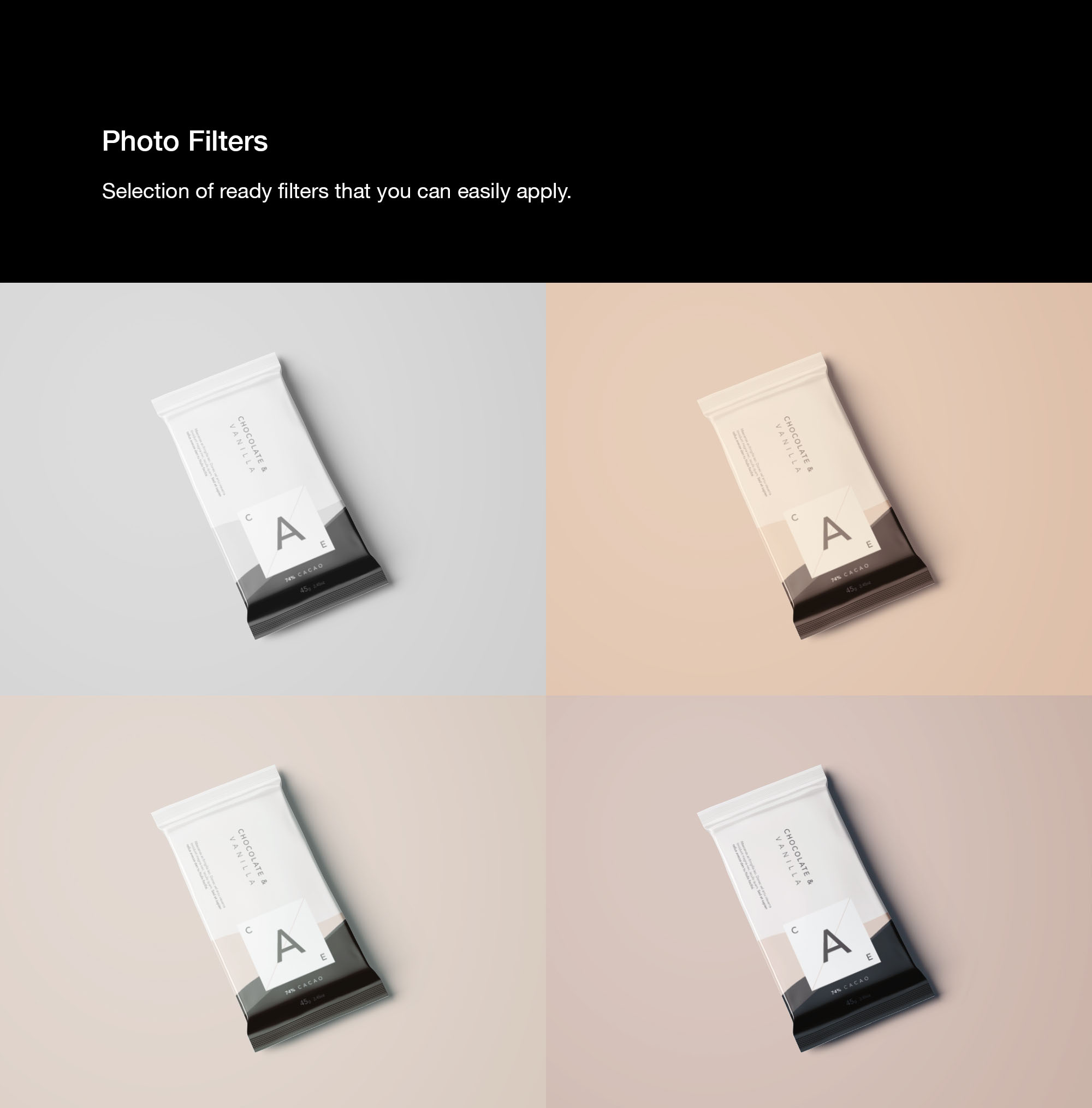 Chocolate Bar Mockup Photo Filters