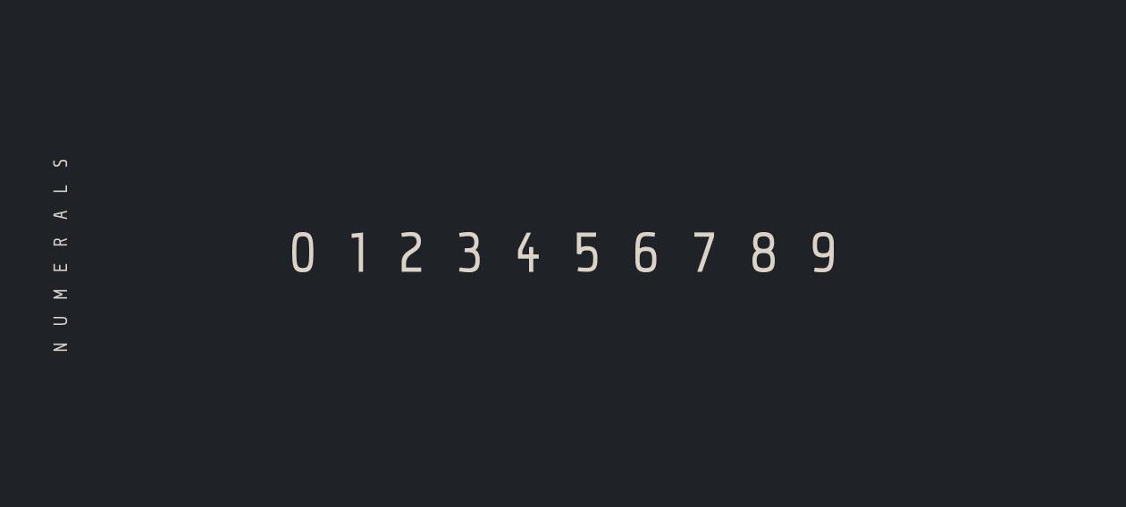 Qontra Font - Numerals