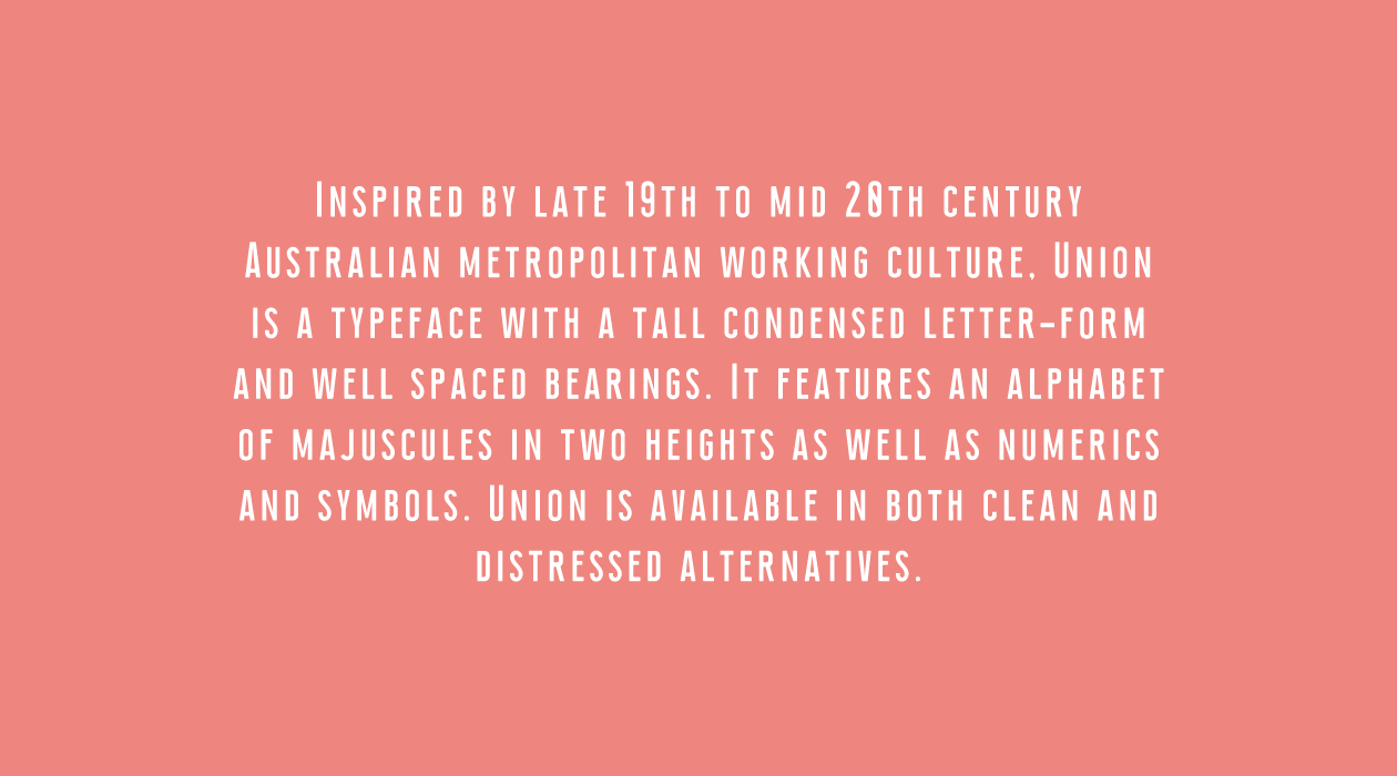 Union Condensed Font Body Text