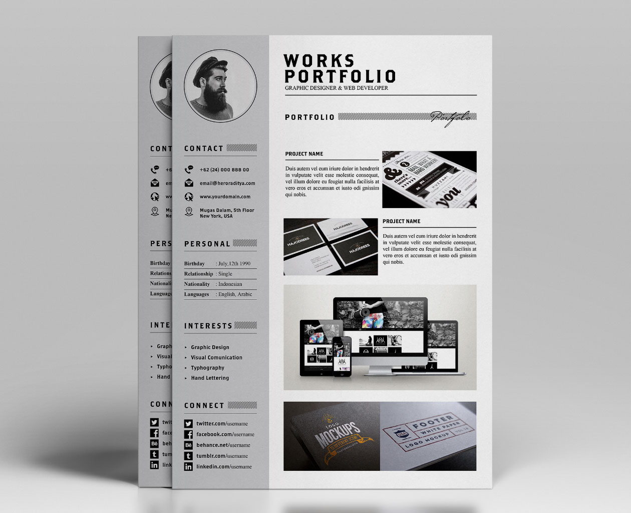 Design Portfolio And Resume Templates