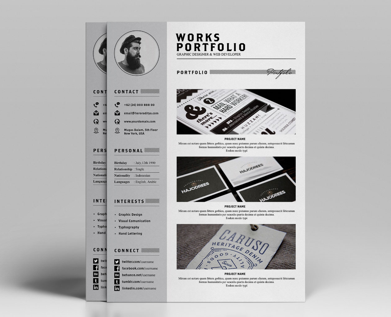 resume  u0026 portfolio template