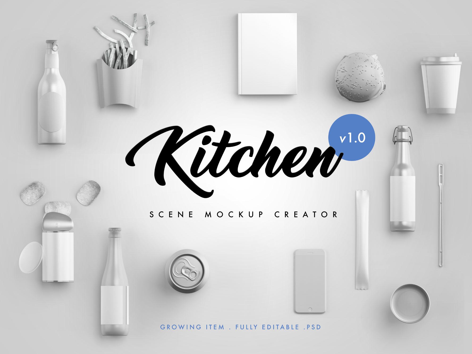 Kitchen Scene Creator Mockup