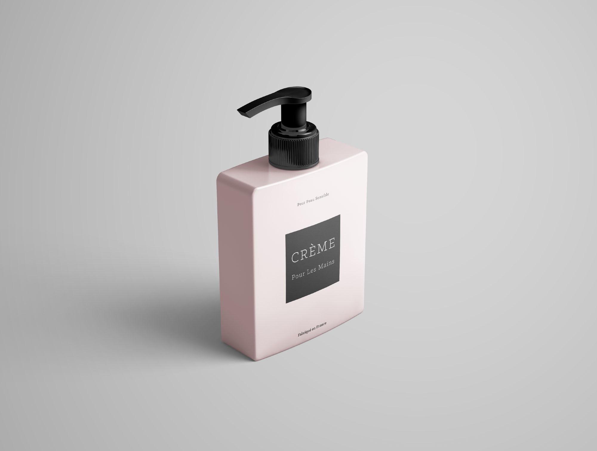 Perspective Cream Bottle Mockup