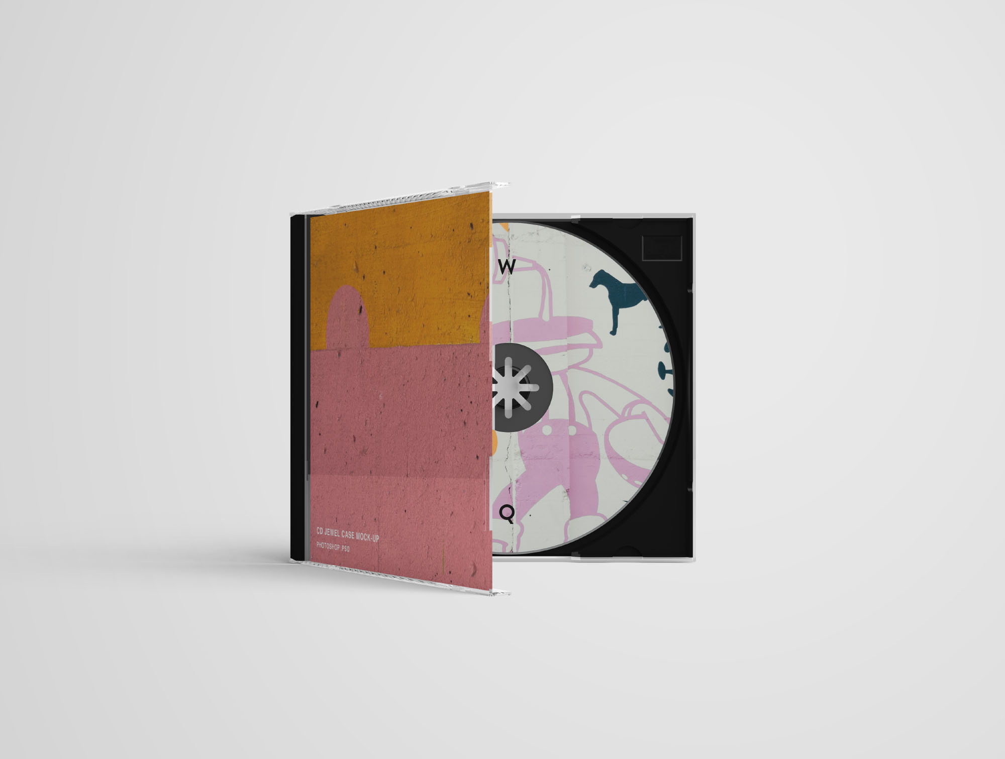 cd jewel case mockup photoshop psd