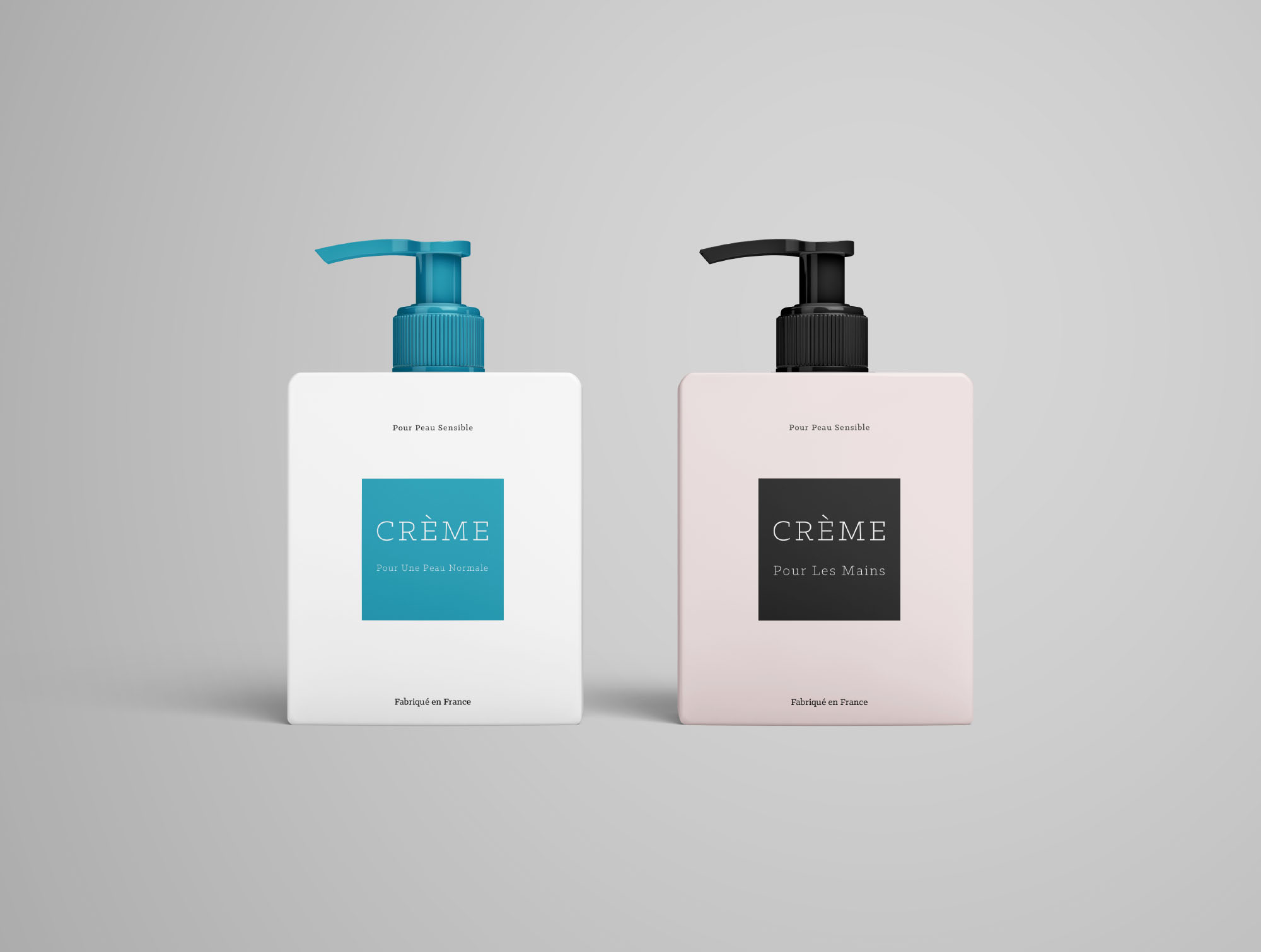 2 Cream Bottle Mockups