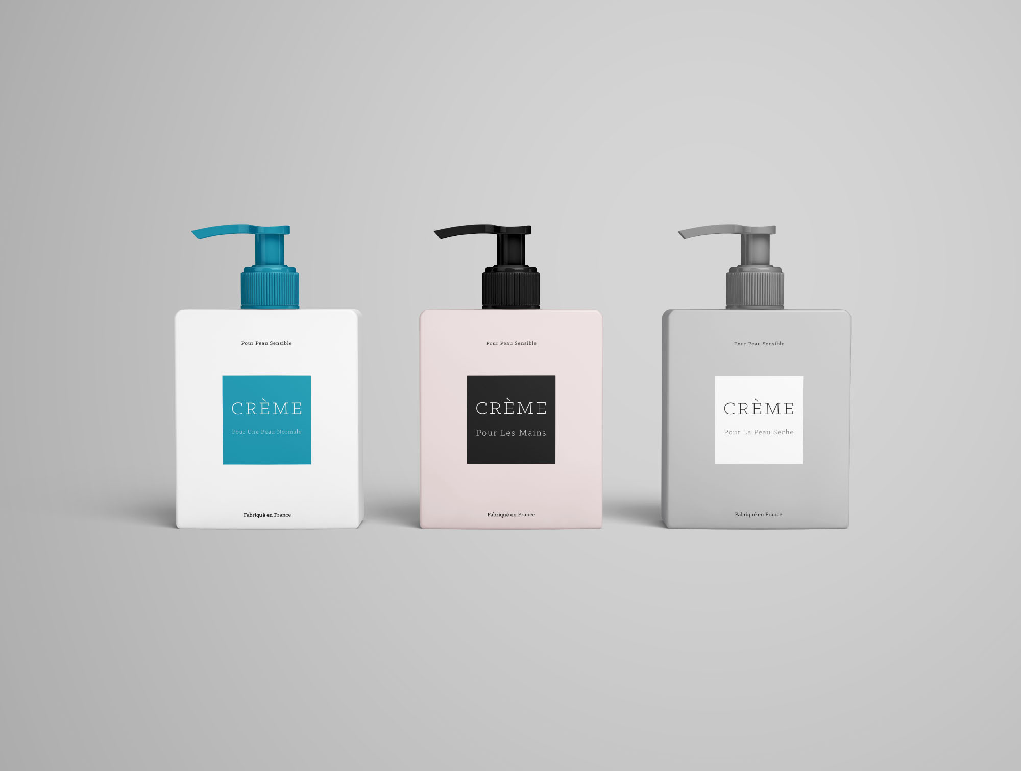 3 Cream Bottle Mockups