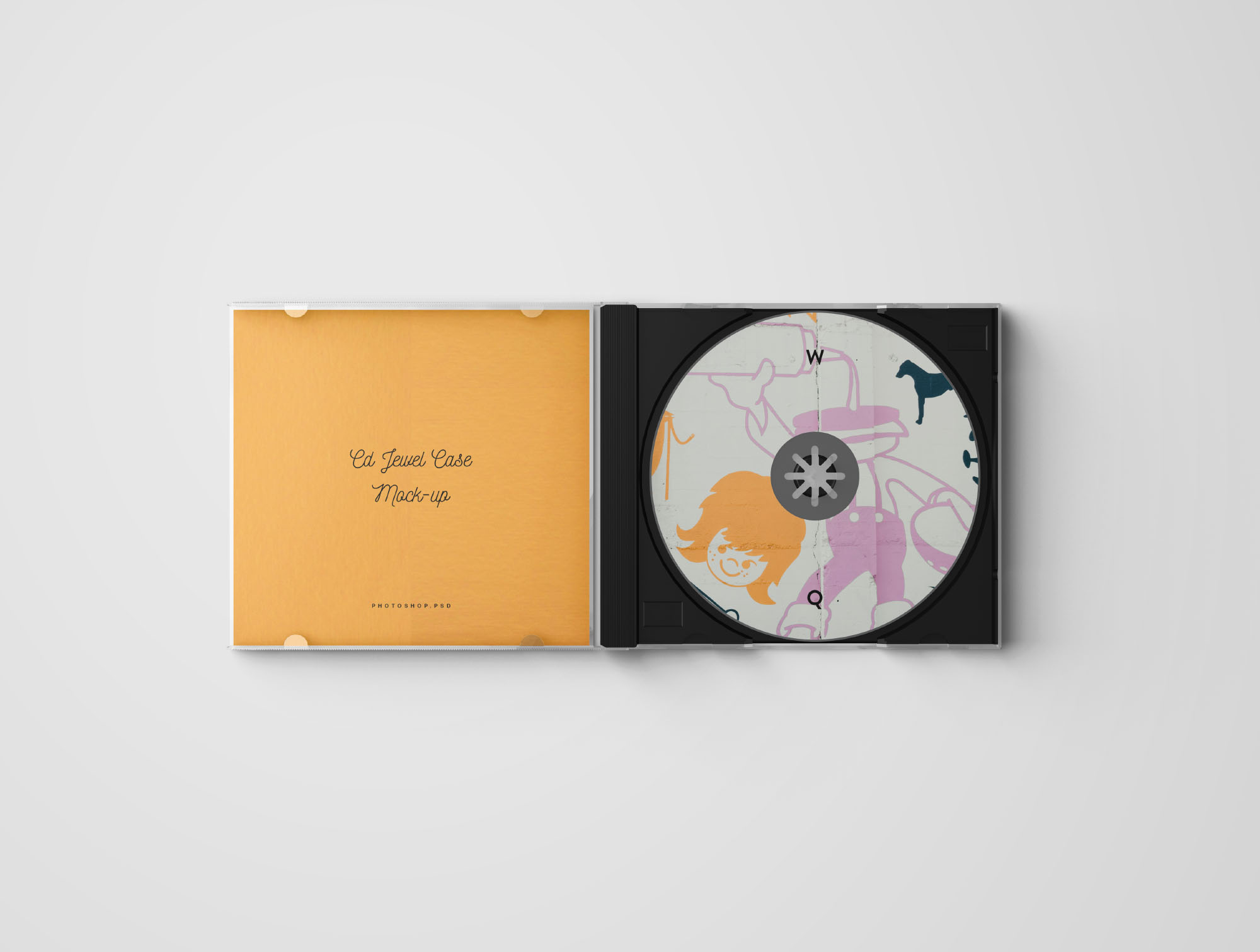 CD Jewel Case Mockup  Photoshop
