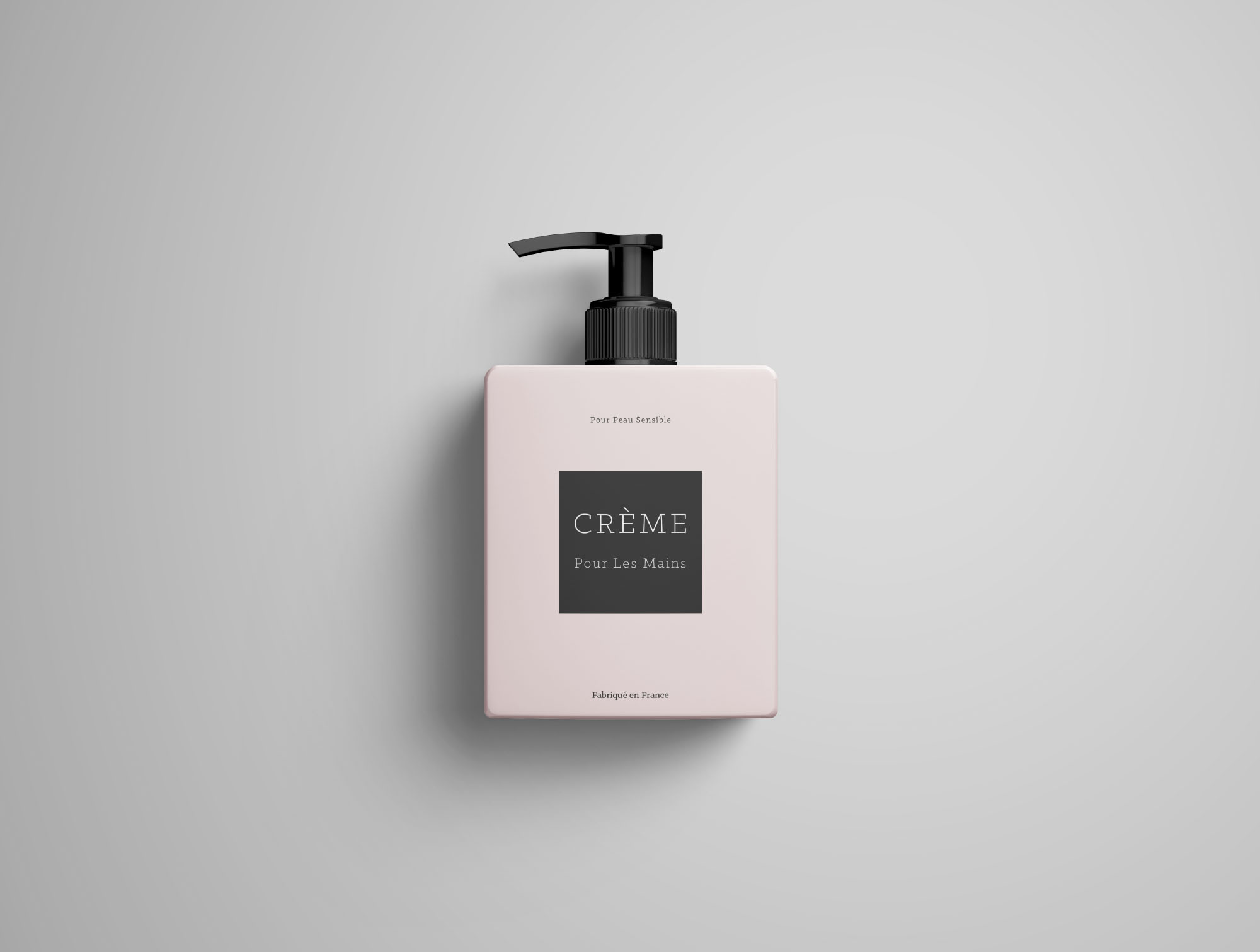 Top Cream Bottle Mockup