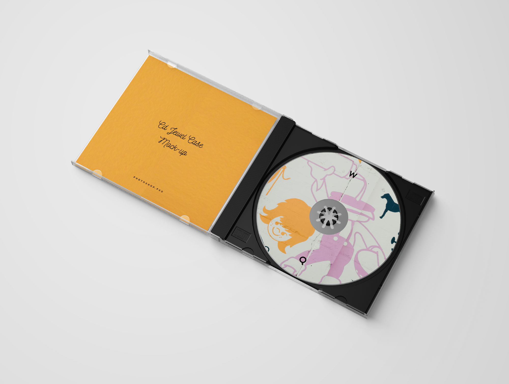 cd jewel case mockup