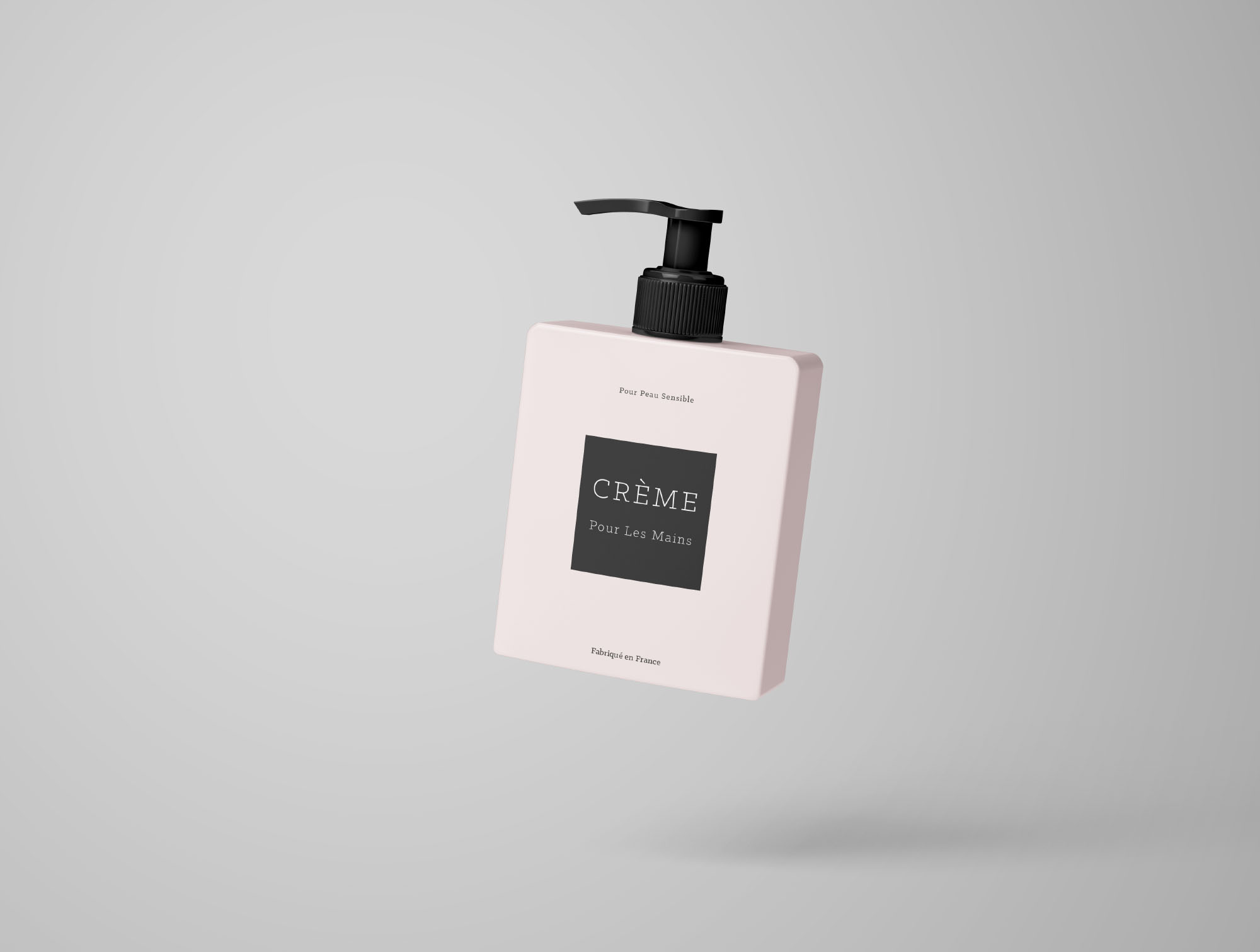 Flying Cream Bottle Mockup