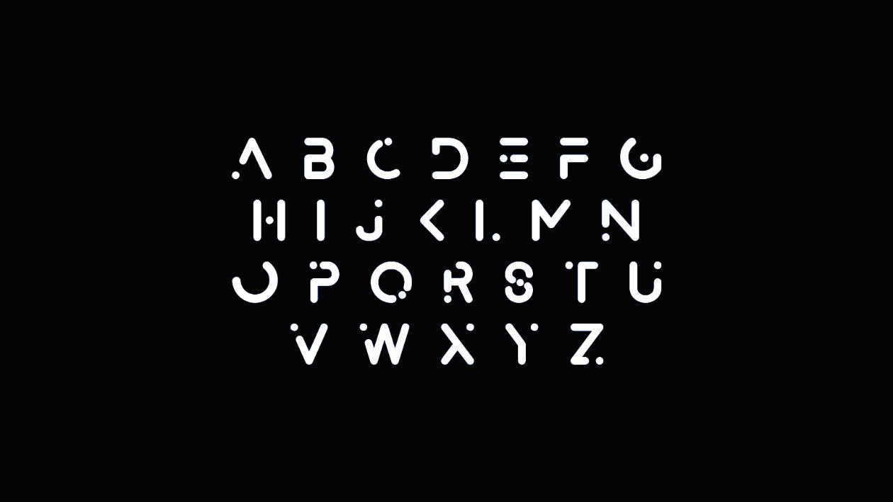 Alexana Typeface Letters