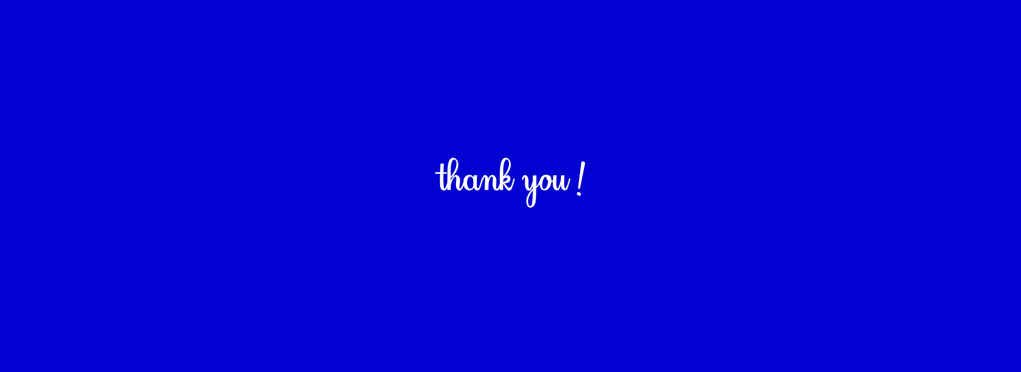 Florence Font - Thank You