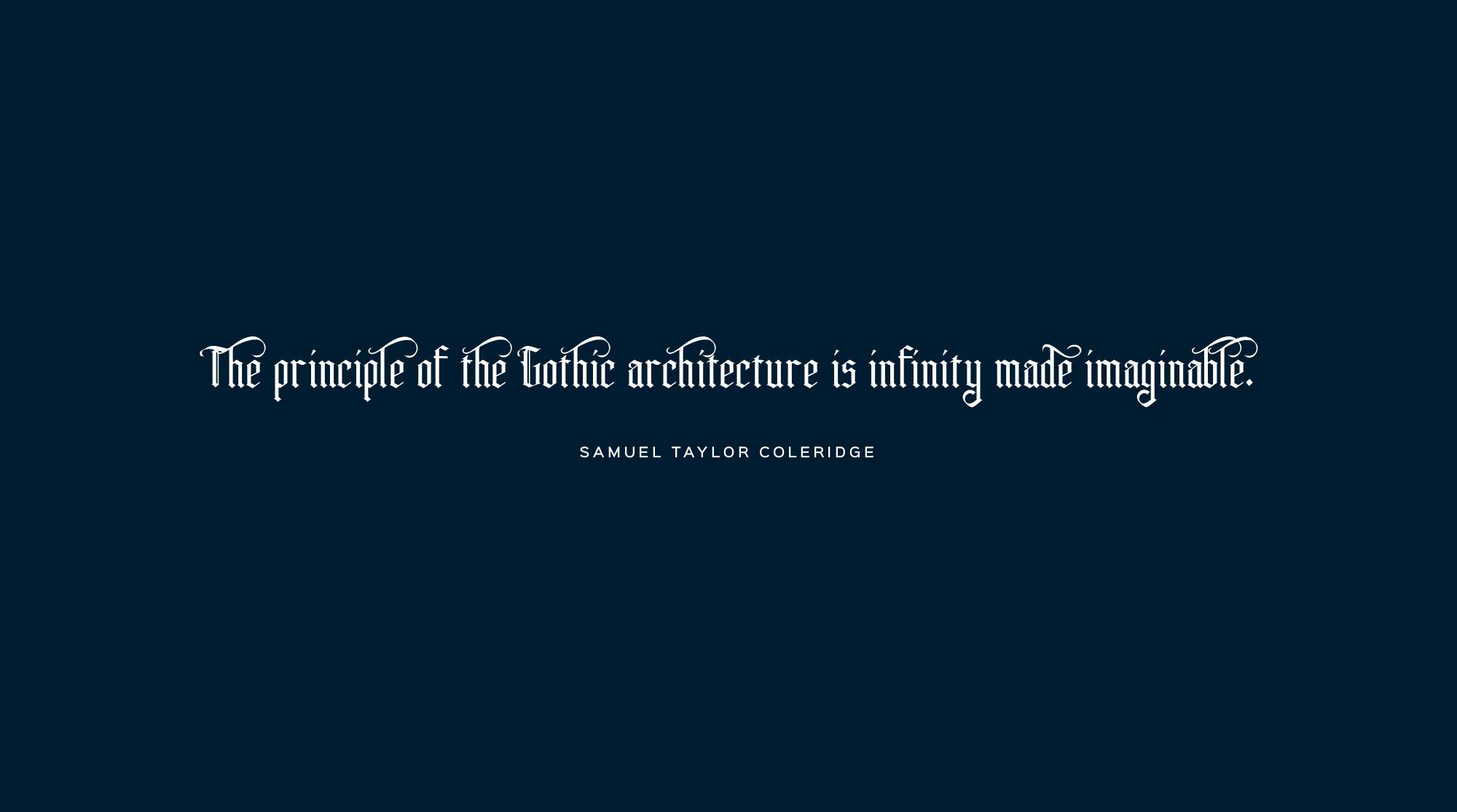 Gothic Architecture Font