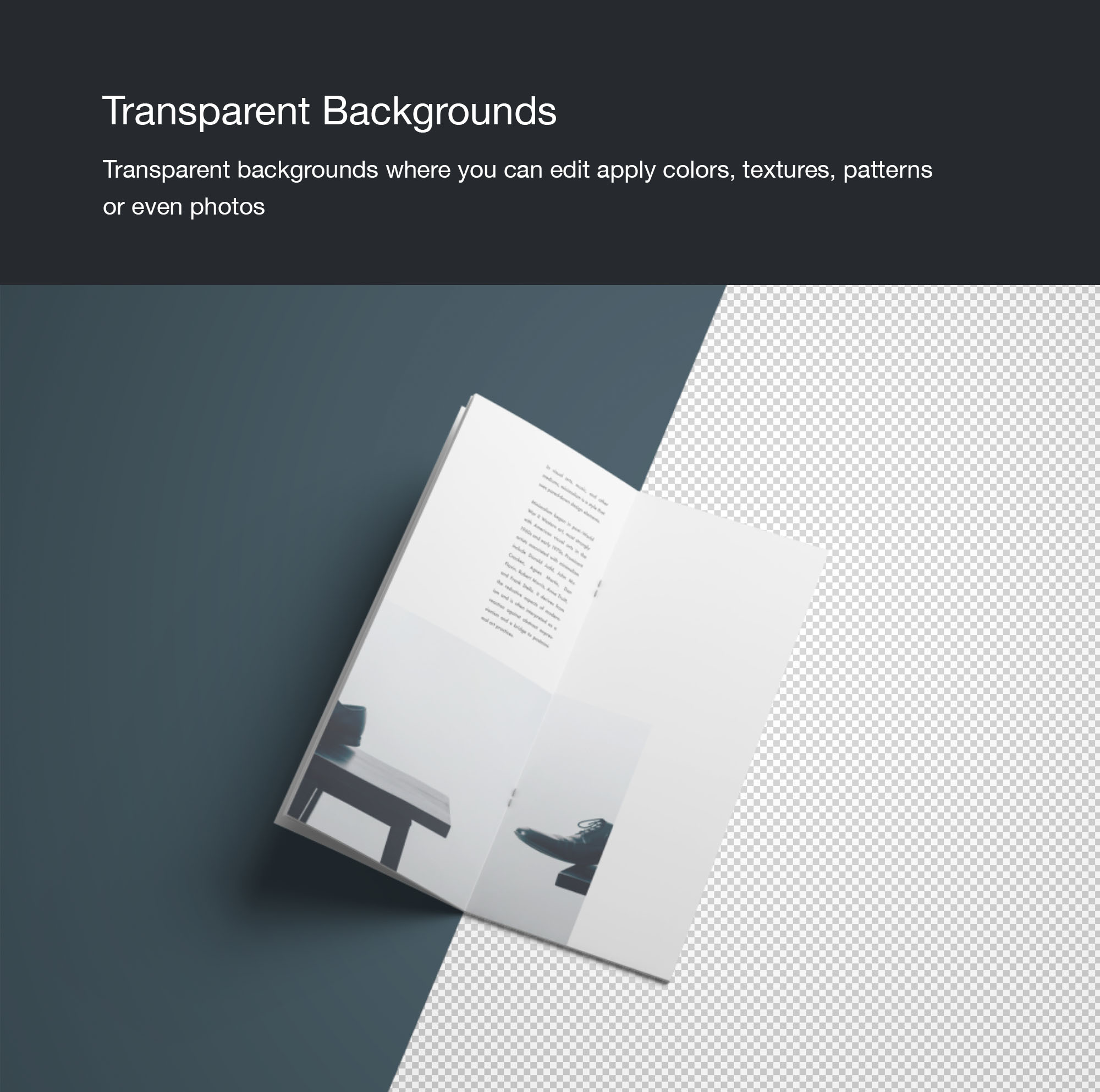 Vertical Brochure Mockup - Isolated