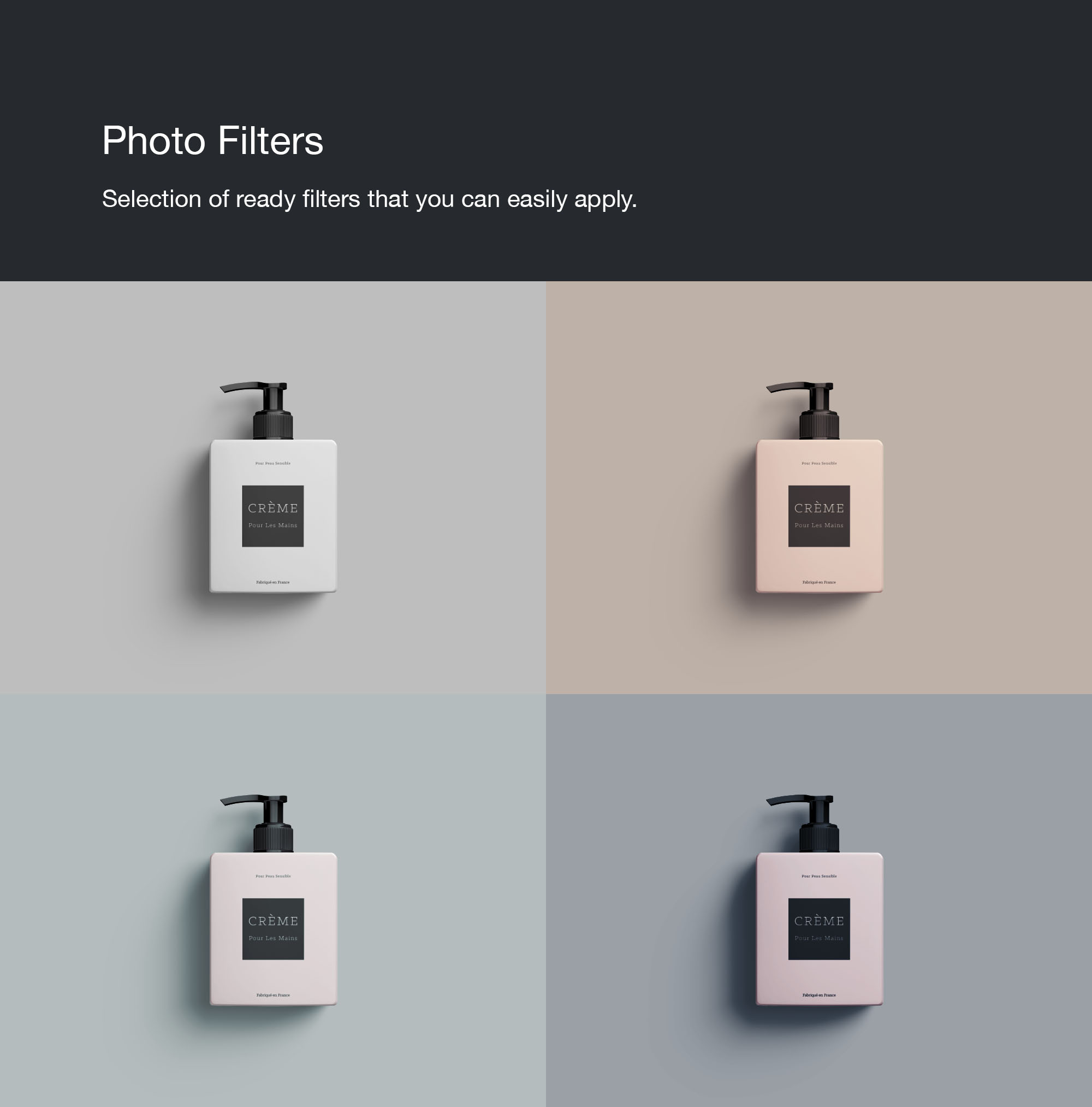Cream Bottle Mockup Filters