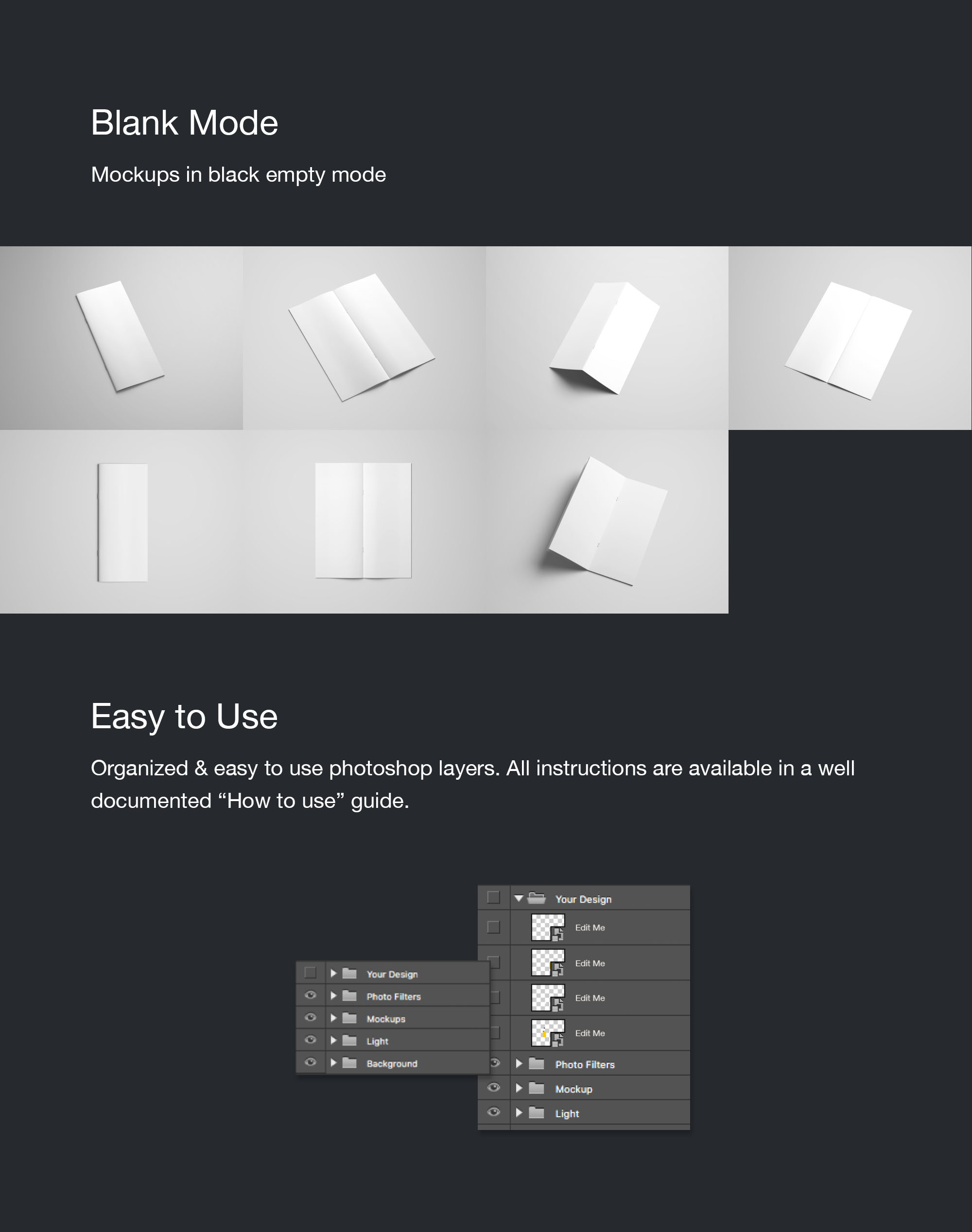 Vertical Brochure Mockup - Blank Mode