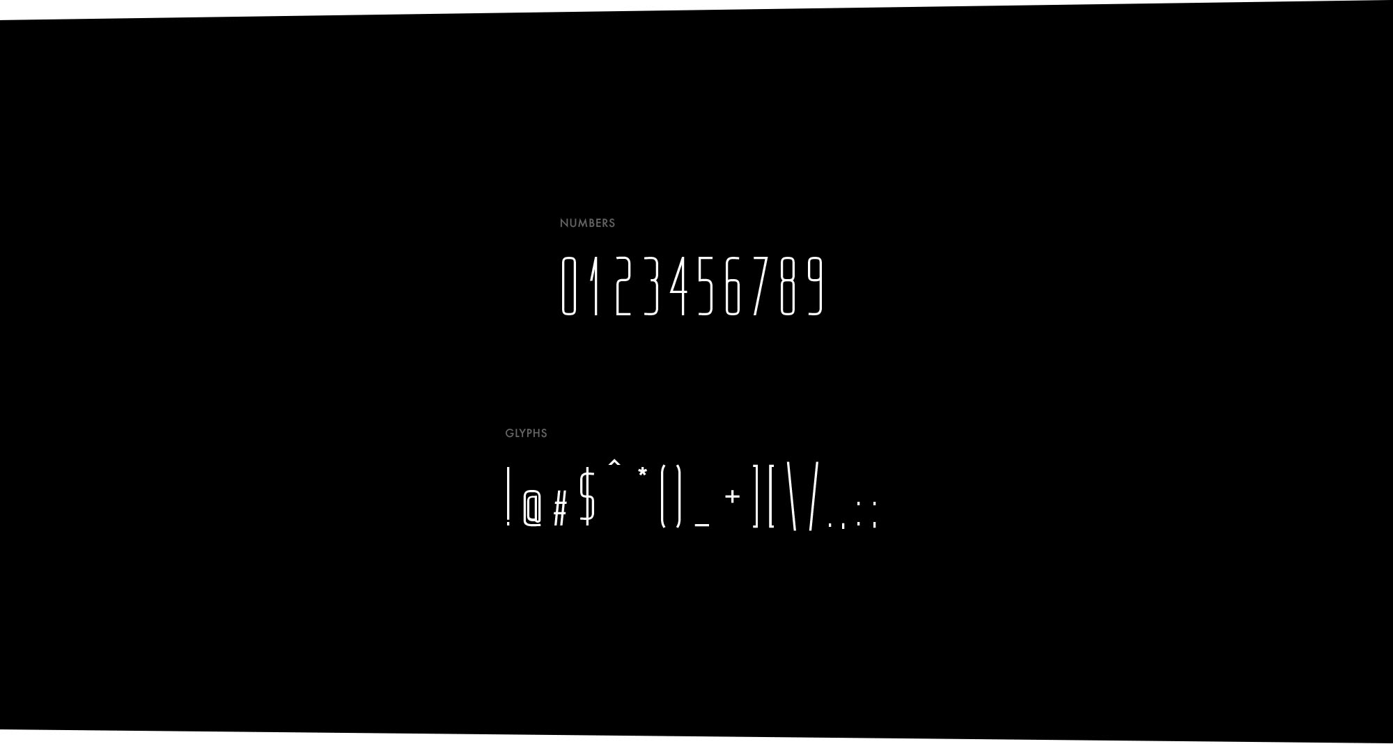 Kompakt Font Numbers & Glyphs