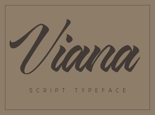 Viana Script Typeface