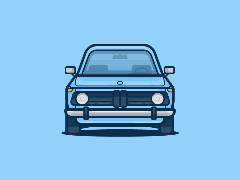bmw flat illustration