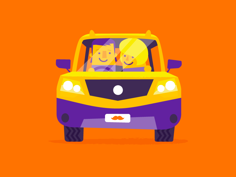 Drive Flat Illustration