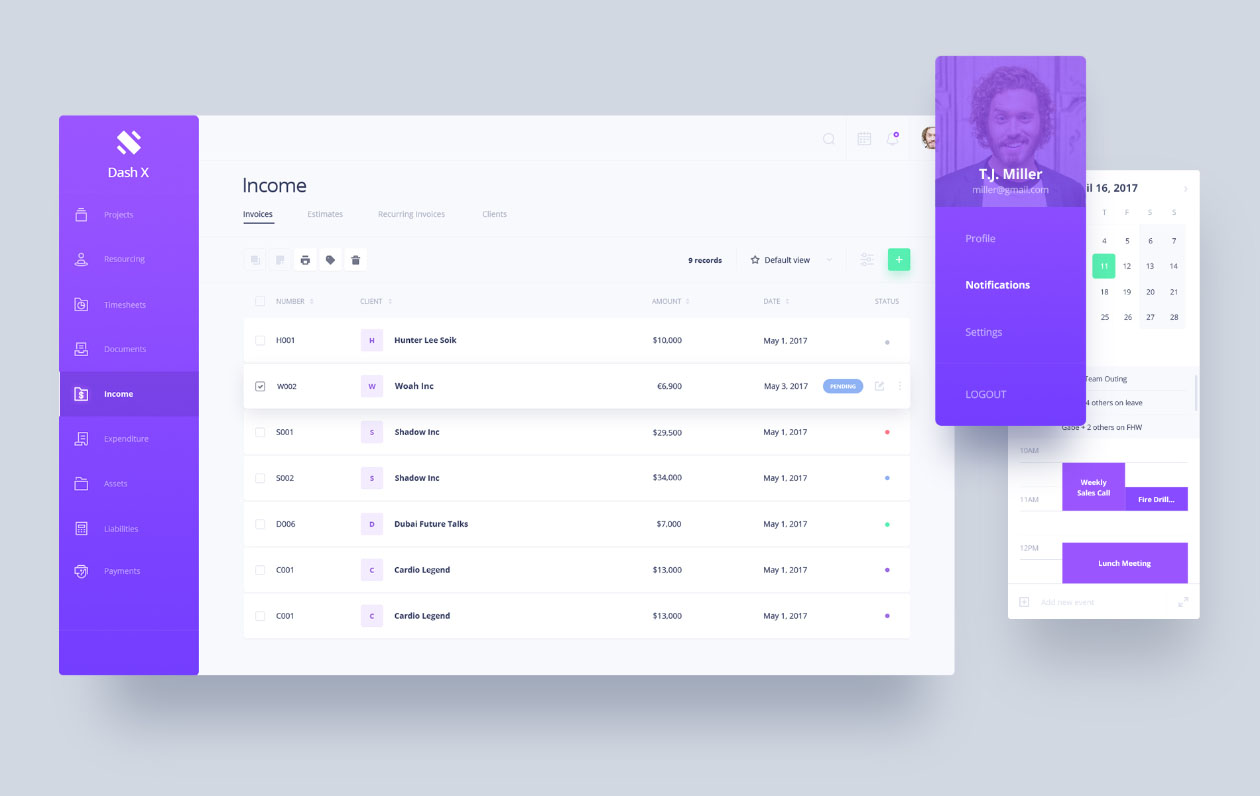 dashboard ui design
