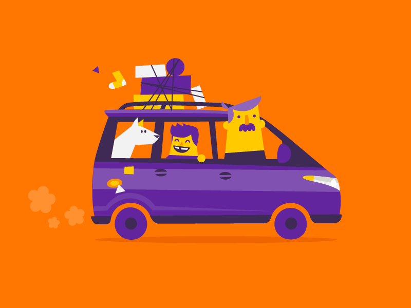 Family Car Flat illustration