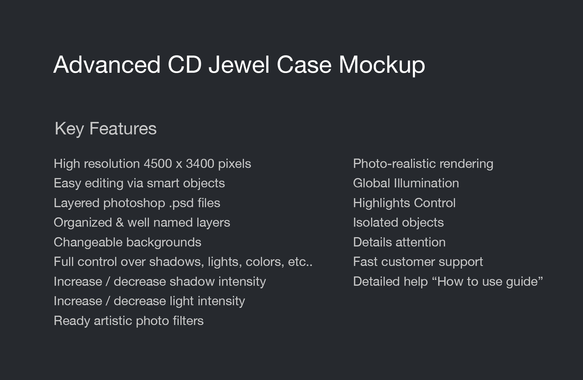 CD Jewel Case Mock-Up info