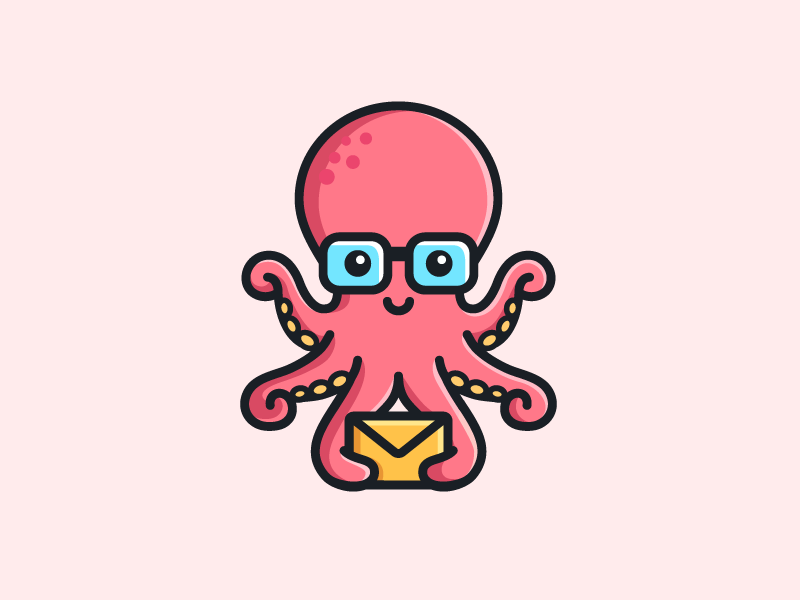 octopus flat illustration