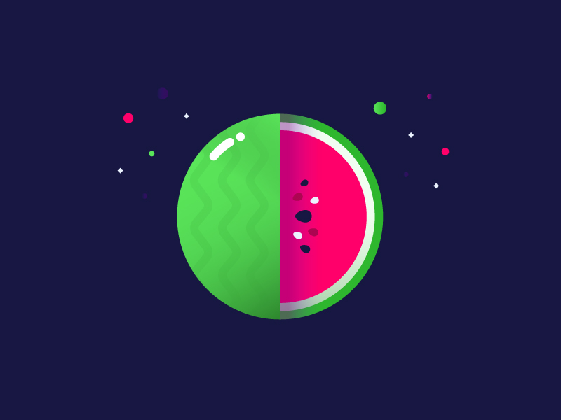 watermelon flat illustration