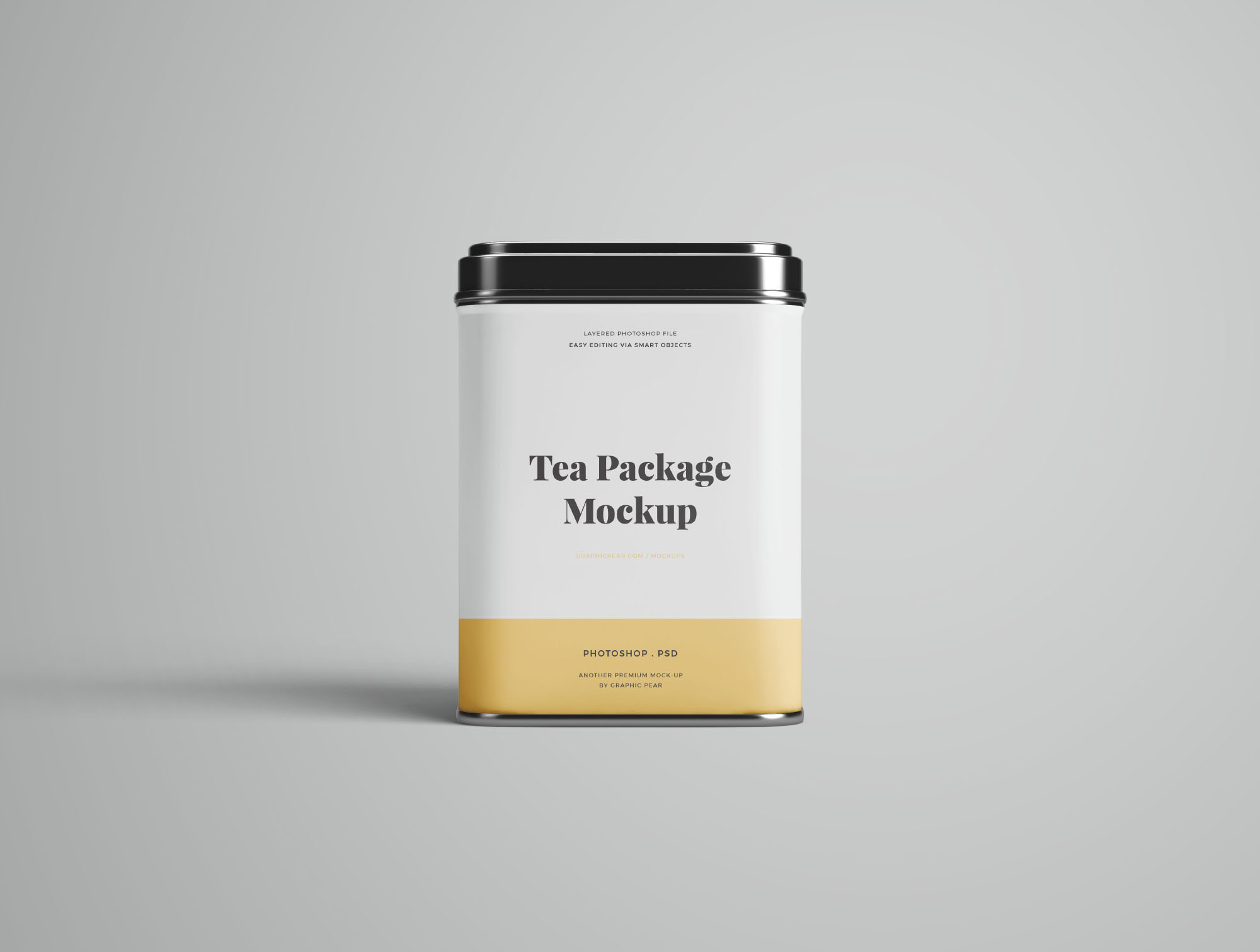 Tea Package Mockup - Front