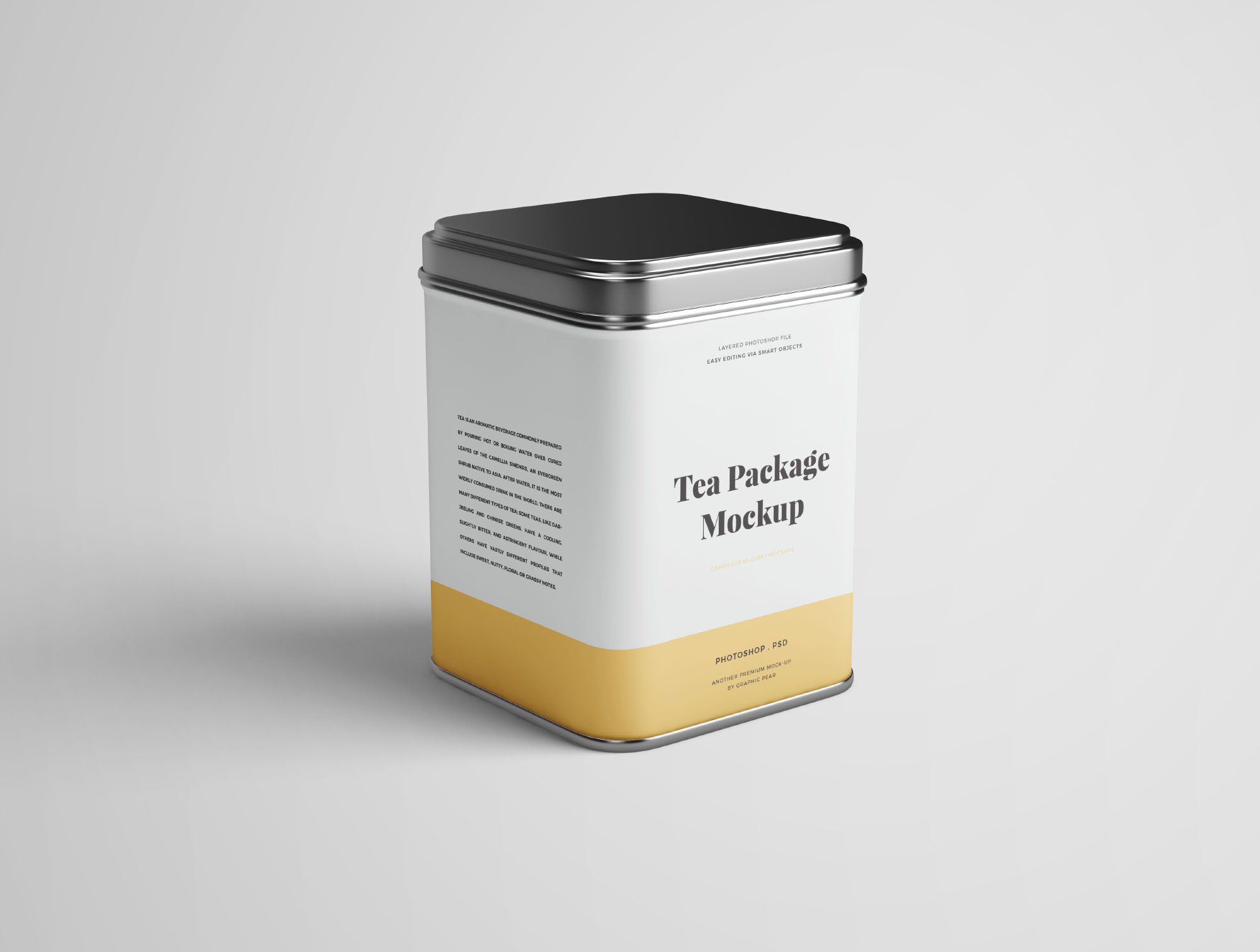 Tea Package Mockups - Perspective