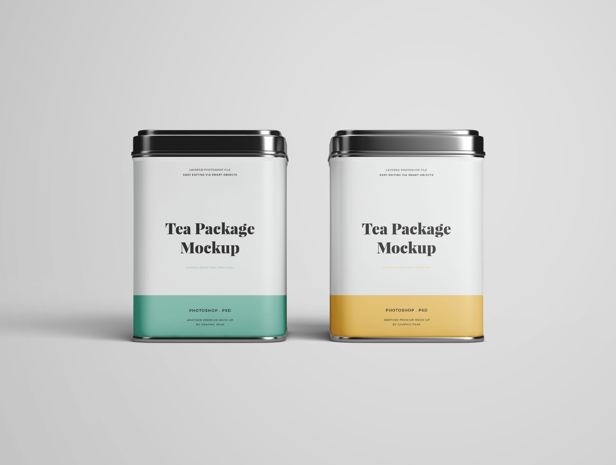 2 Front Tea Package Mockups