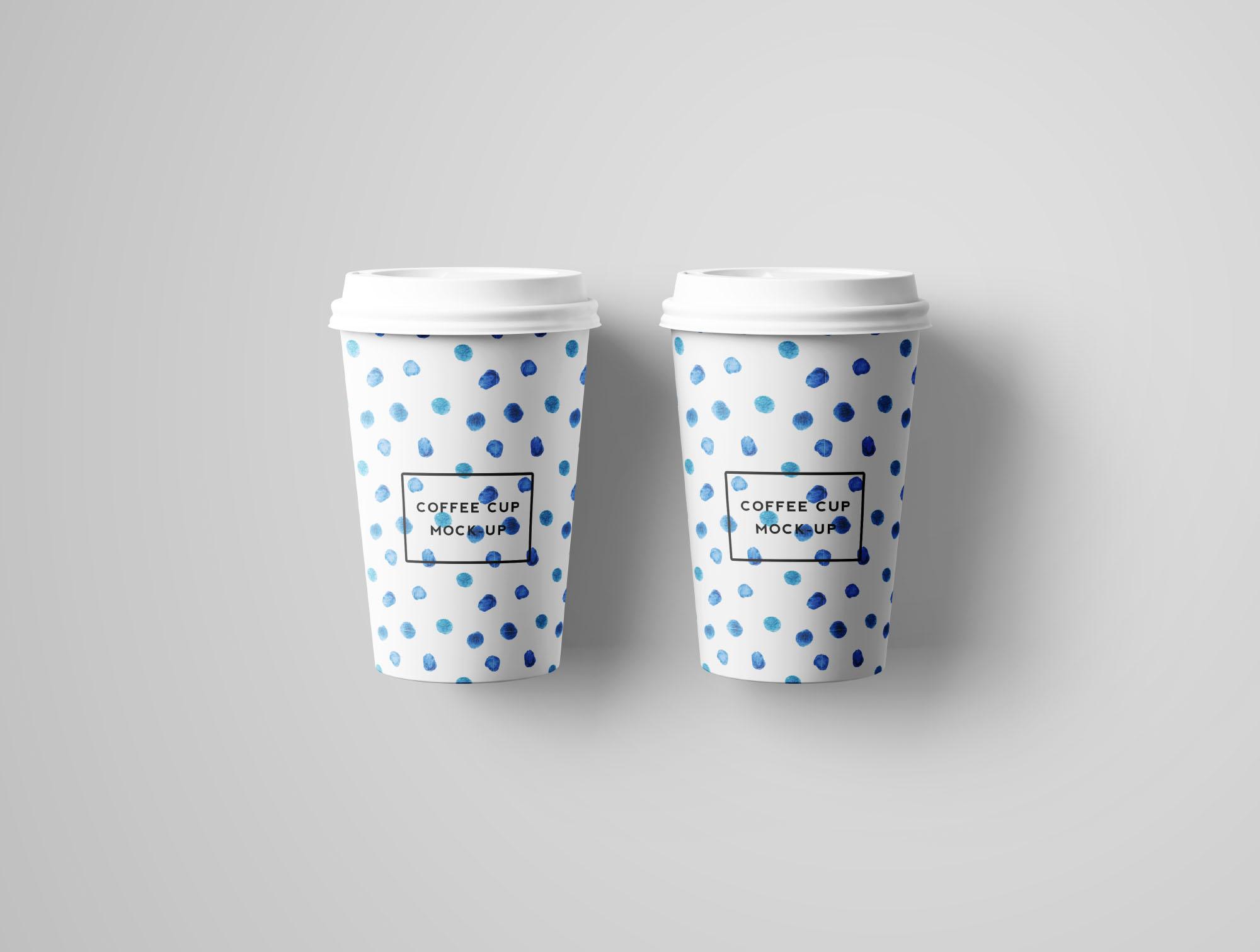 Coffee Cup Mockup - Top