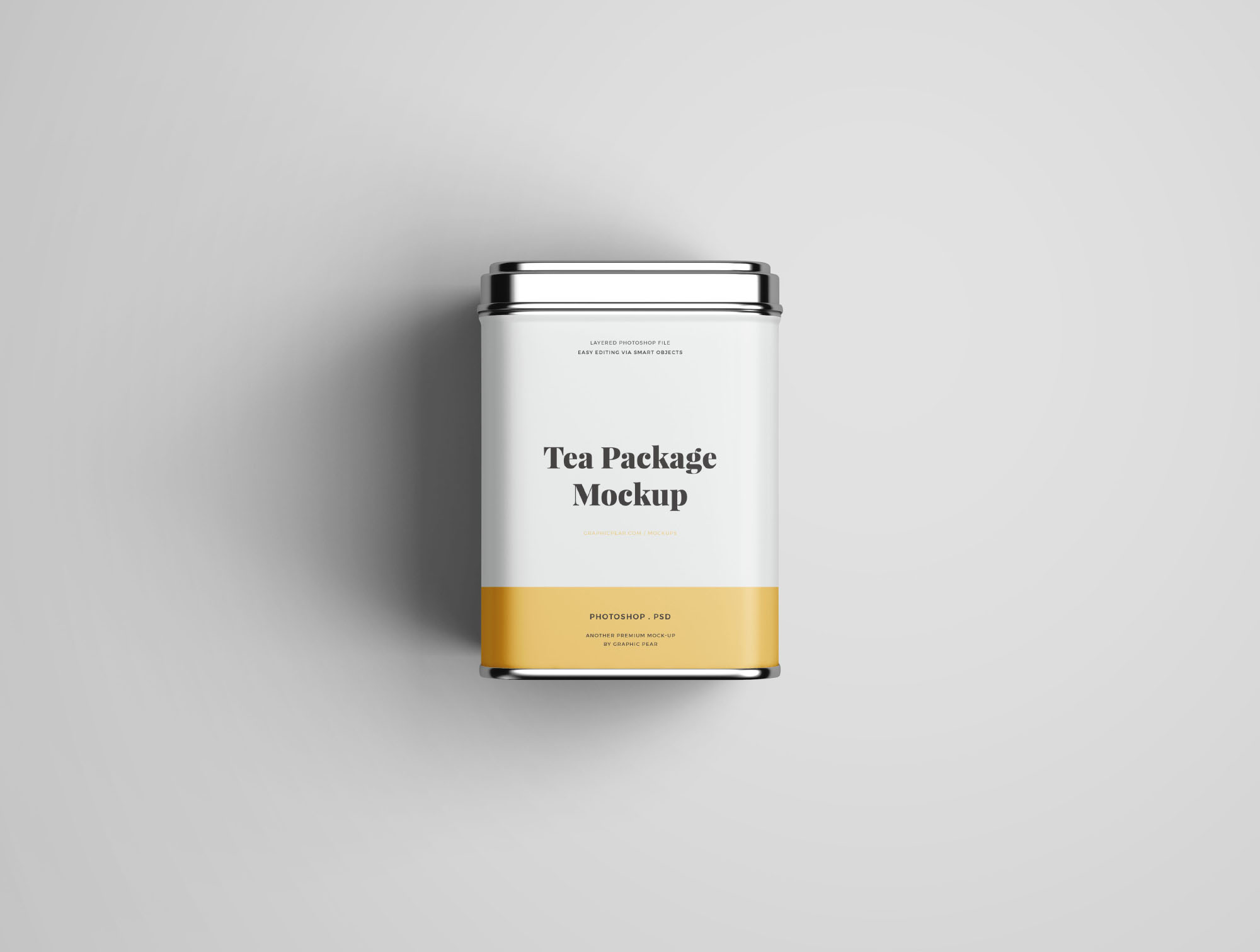 Tea Package Mockup - Top VIew