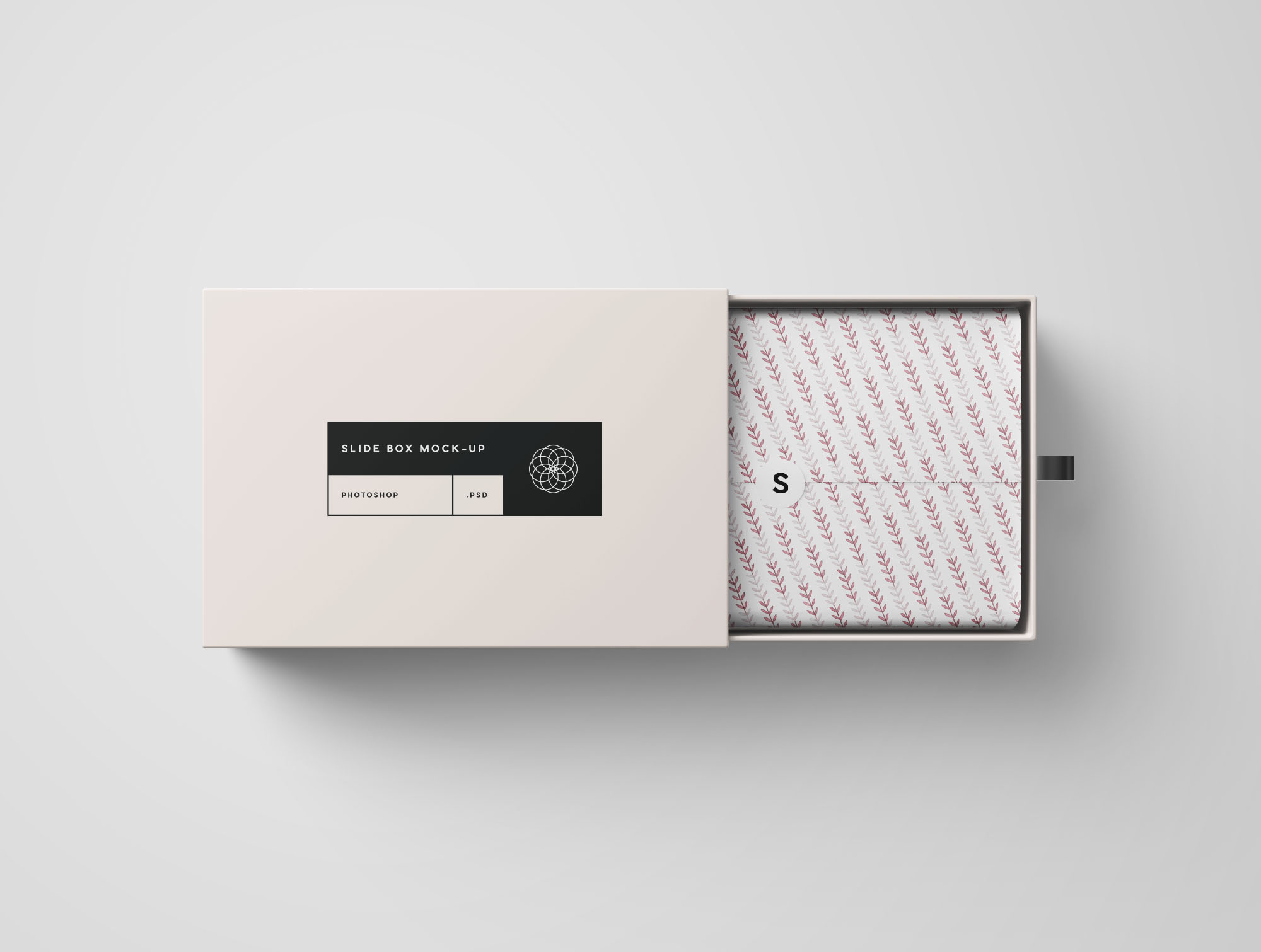Opened Rectangle Slide Box Mockup