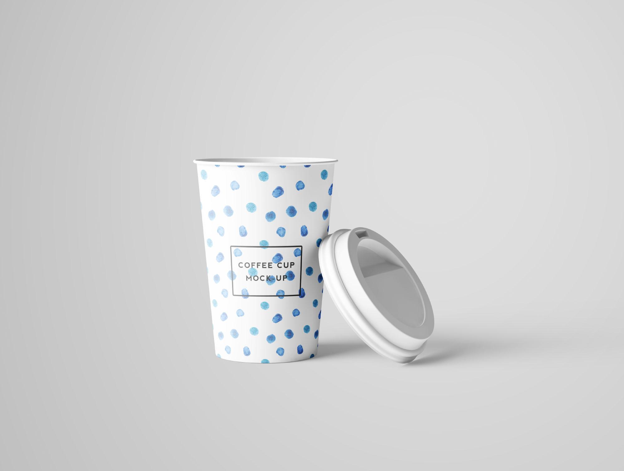 Coffee Cup Mockup - Opened