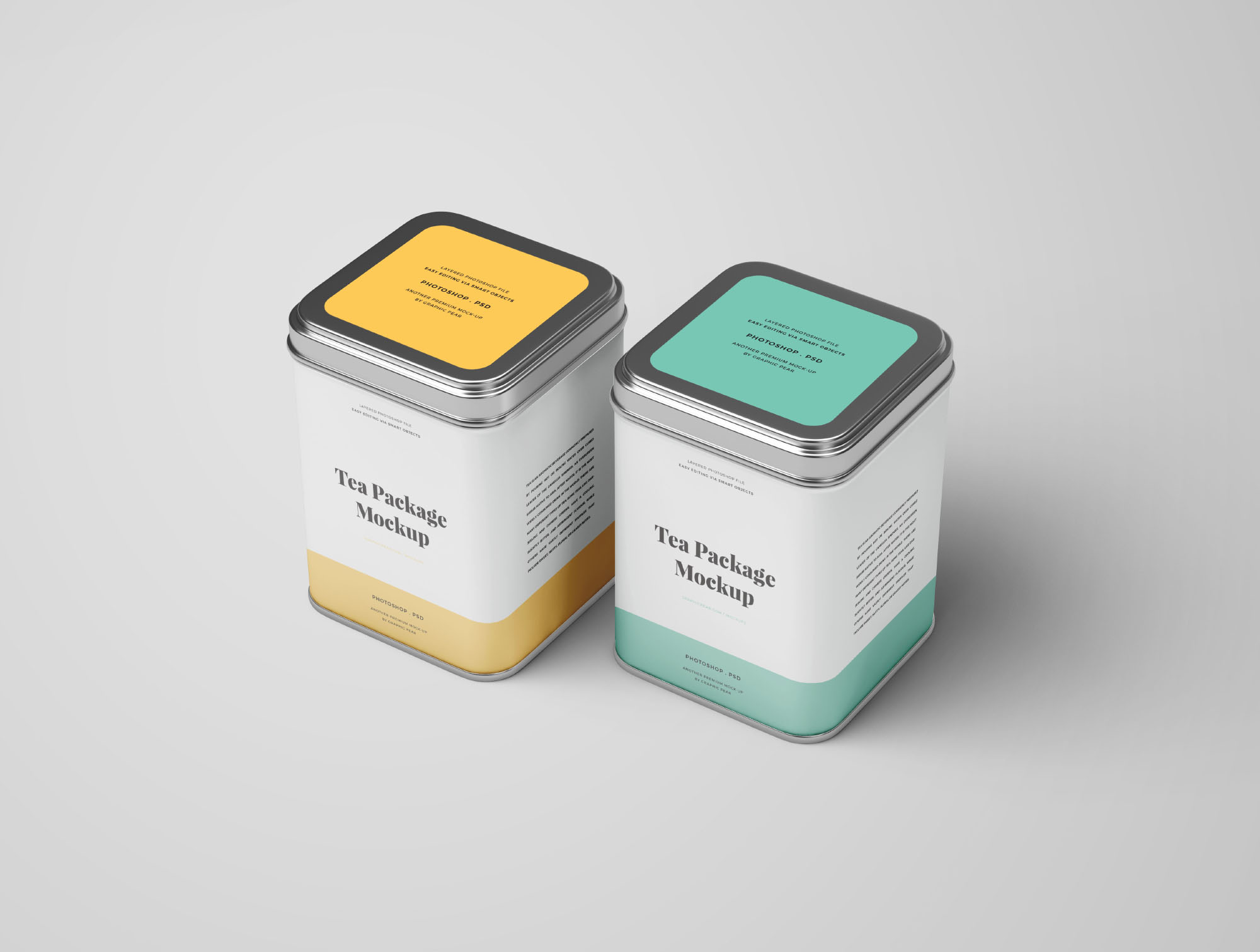 2 Tea Package Mockups