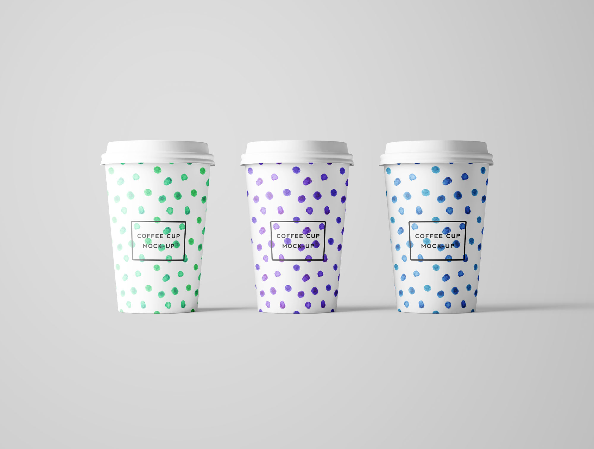 3 Coffee Cup Mockups - Front