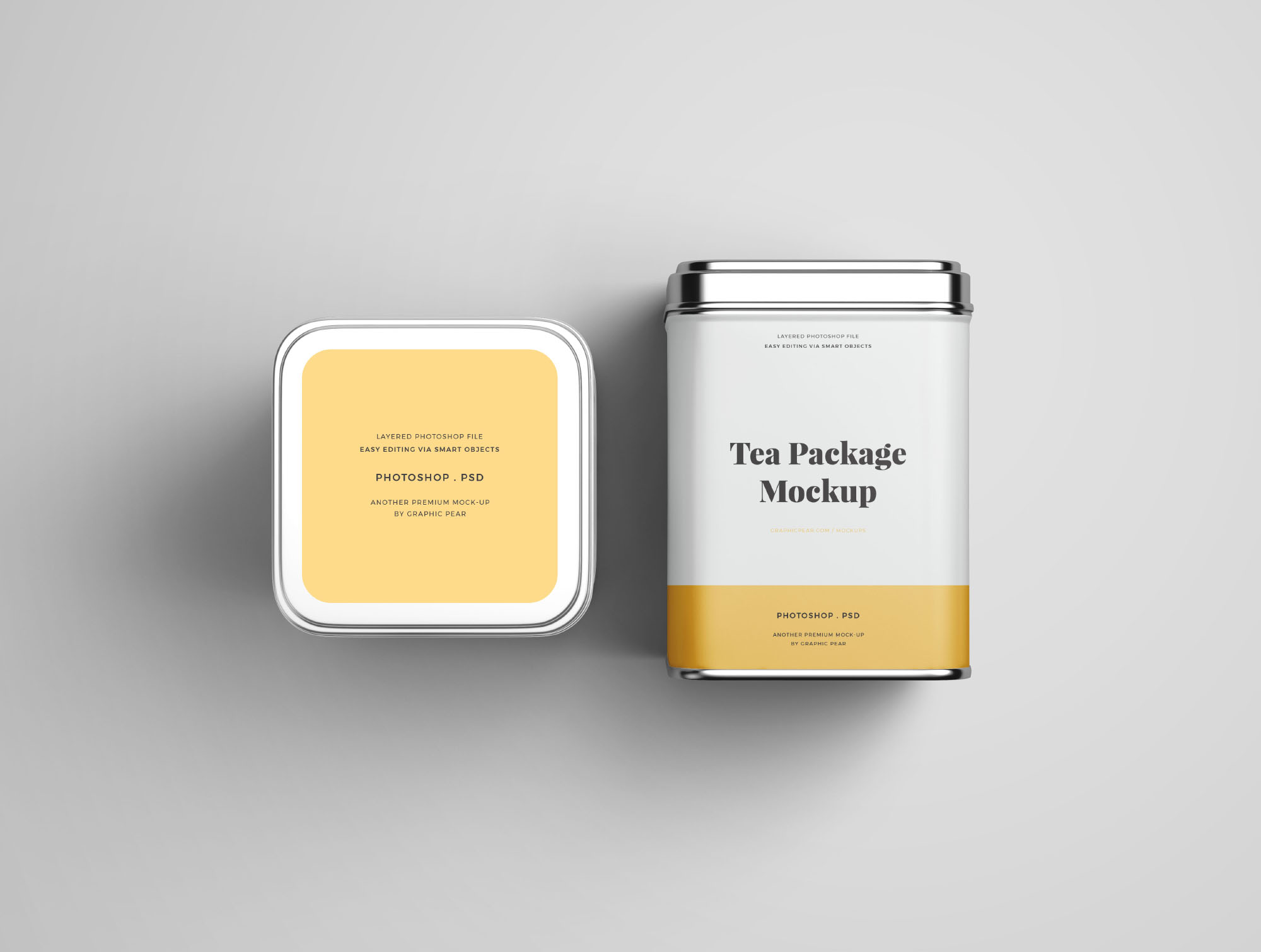 Tea Package Mockup - Top & Front