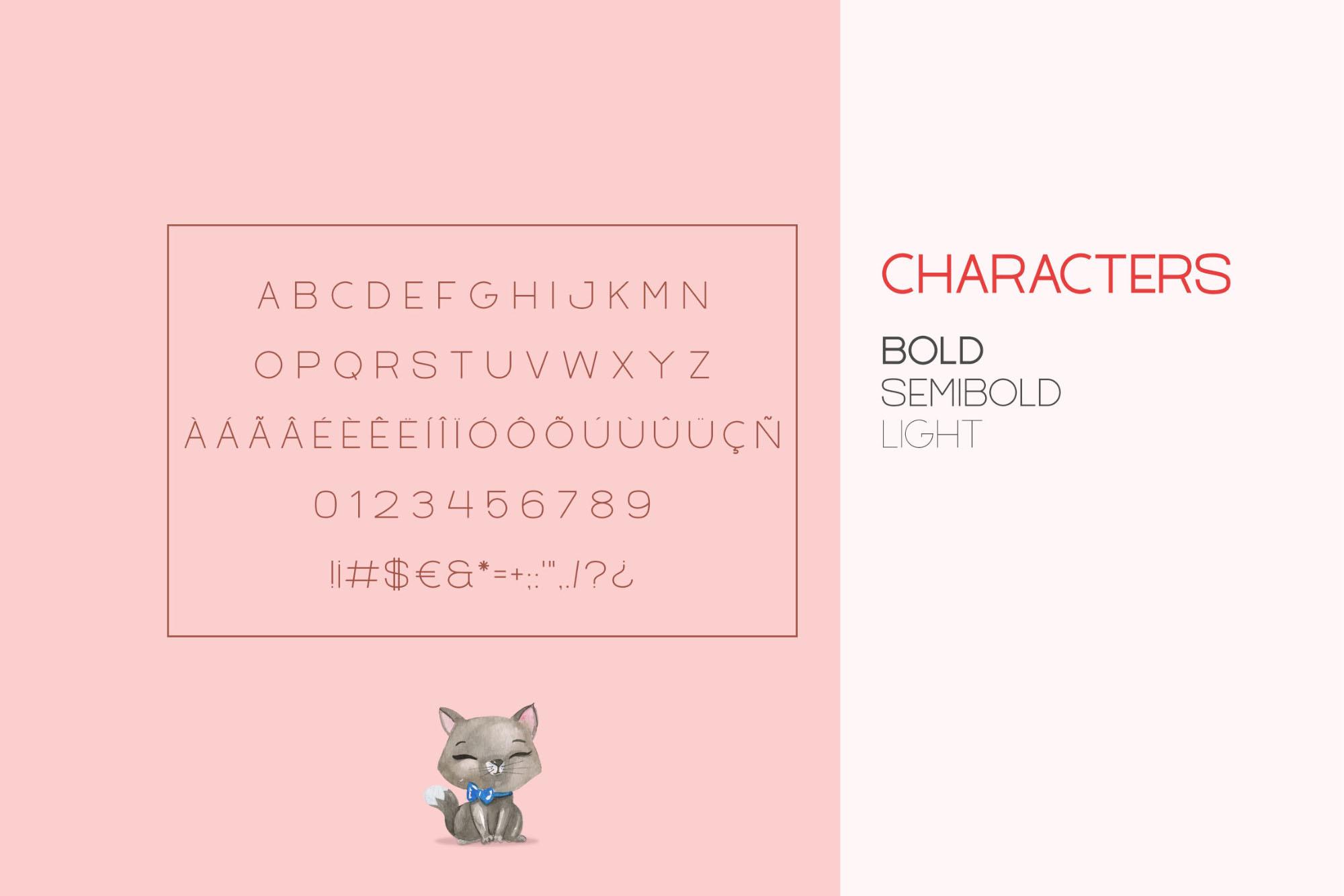 Filena Font Characters